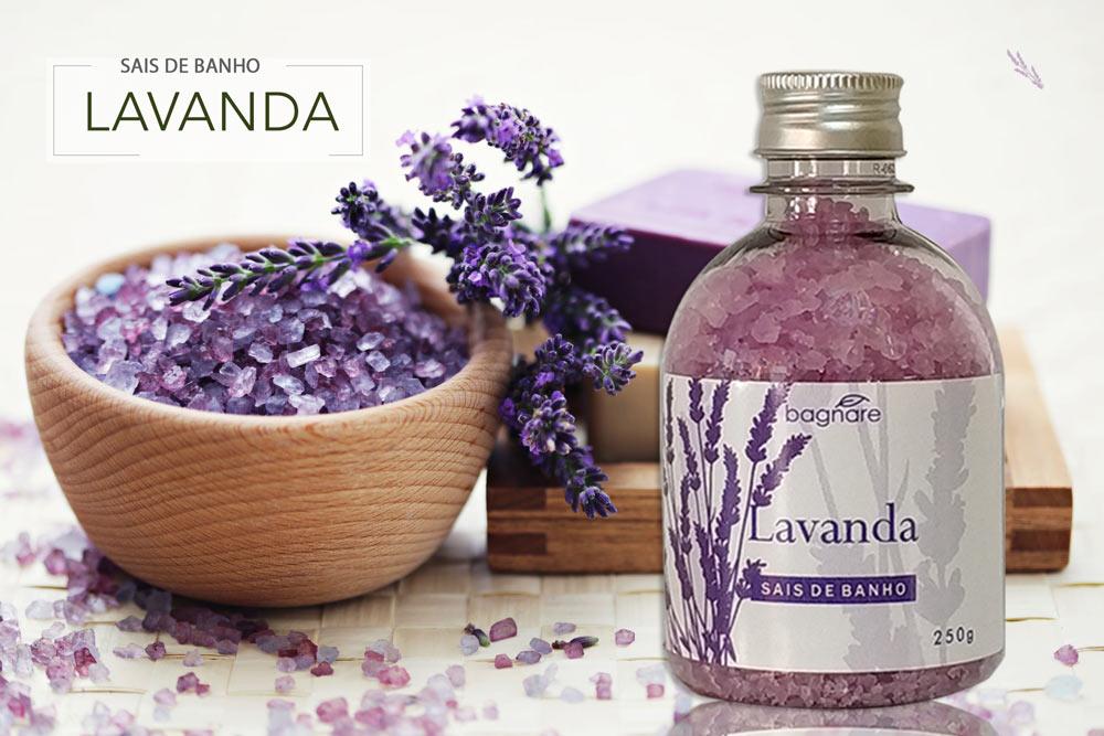 Sais de Banho Banheira Lavanda Bagnare 250 g