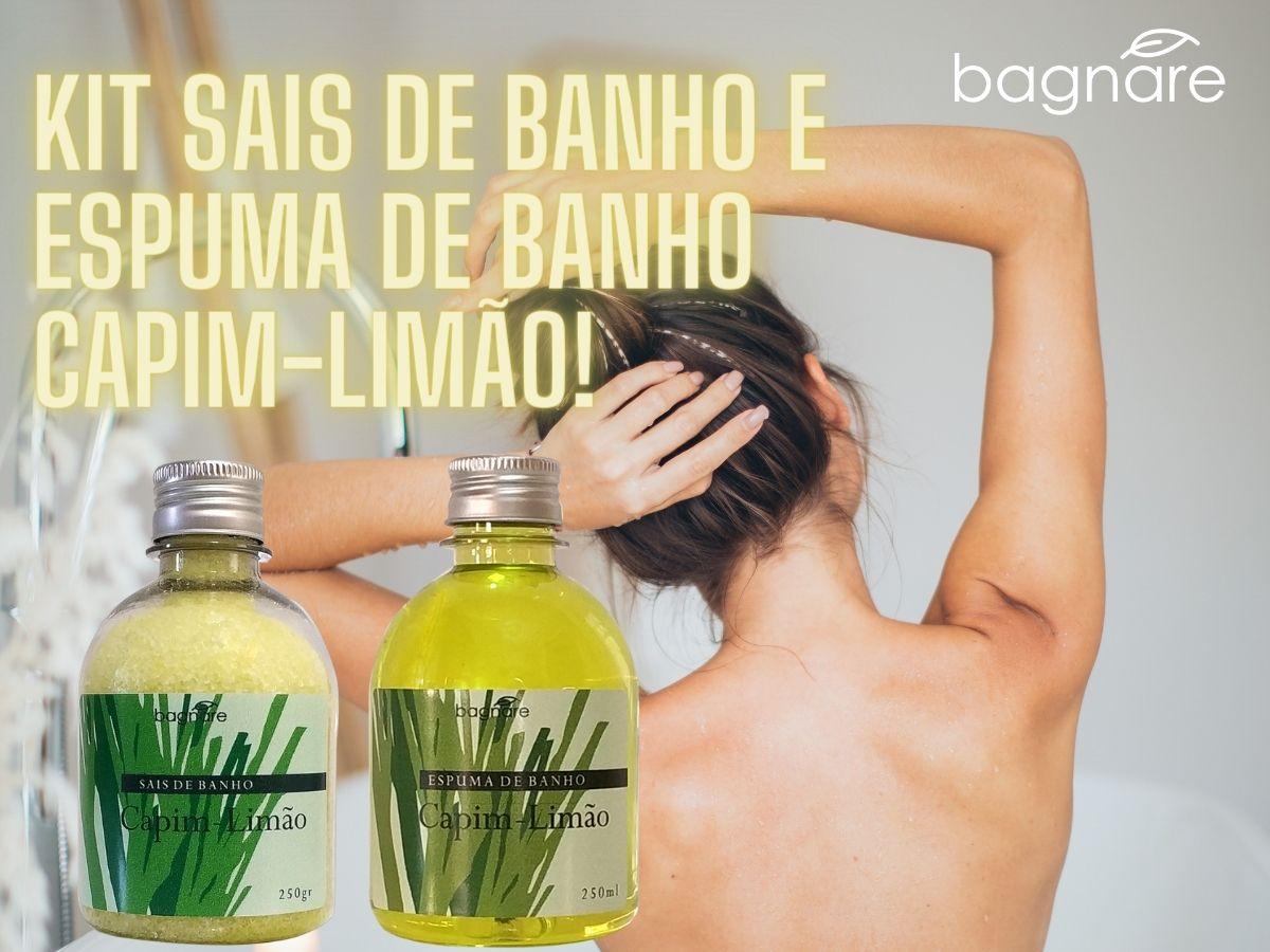 Sais De Banho E Espuma Para Banheira Capim Limão