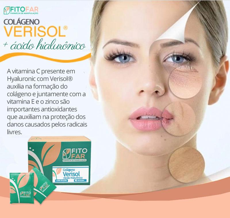 Colágeno Verisol + Ácido Hialurônico - 60 sachês - 15% off na segunda unidade