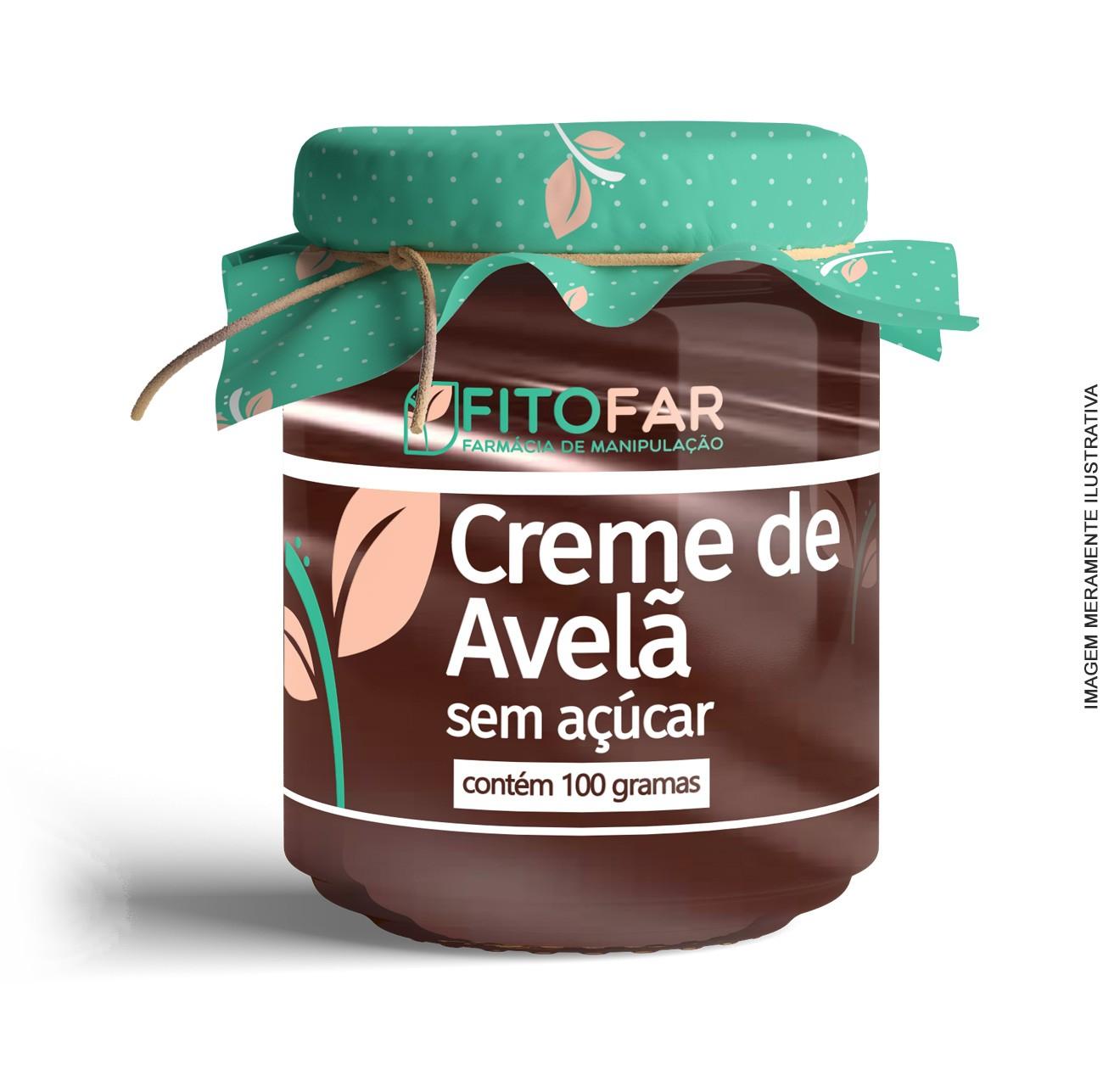 CREME DE AVELÃ SEM AÇÚCAR - 100G - Combate a vontade de comer doce, comendo doce