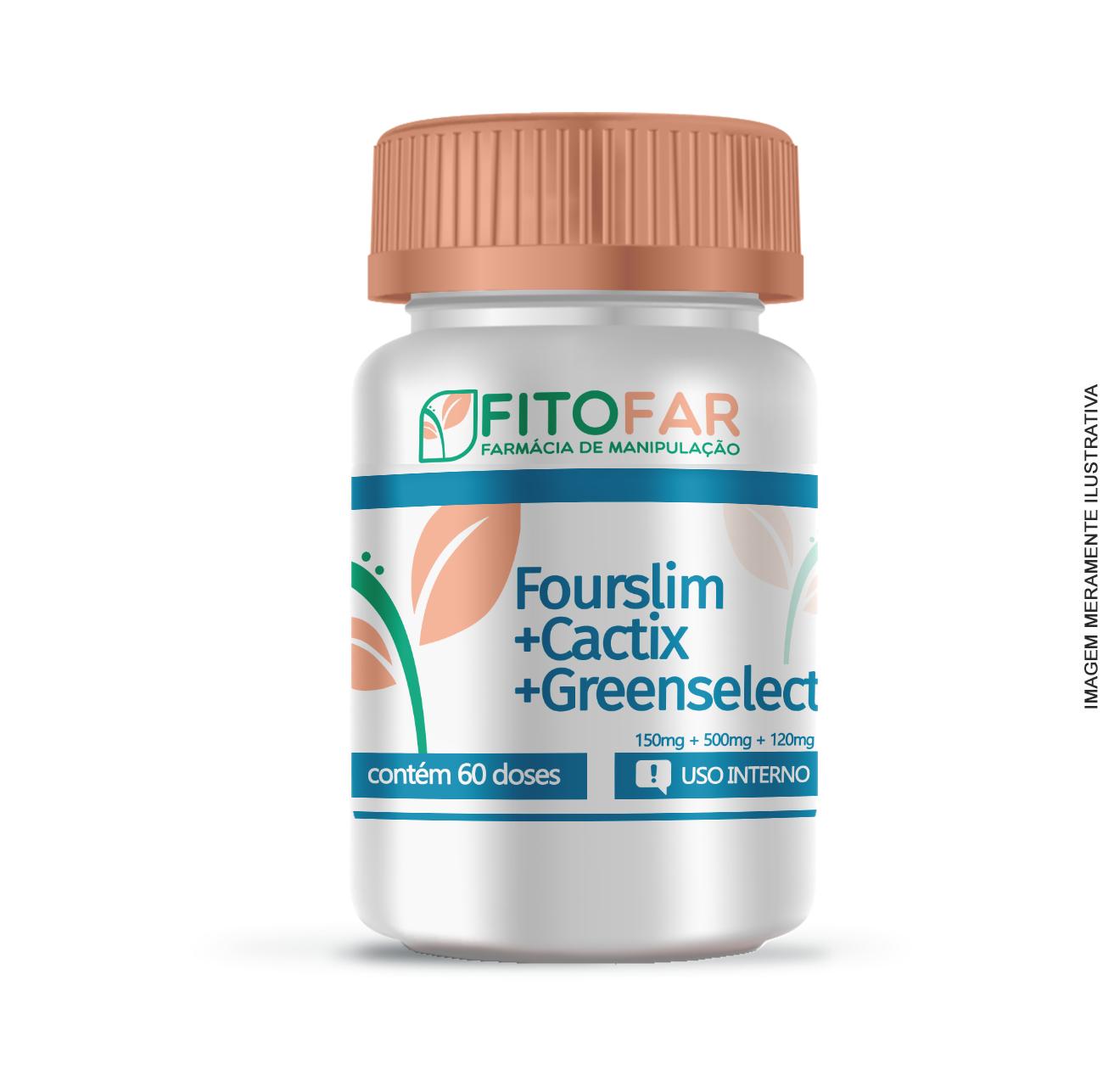Fourslim® + Cactix® + Greenselect® - Combinado emagrecedor - 60 doses