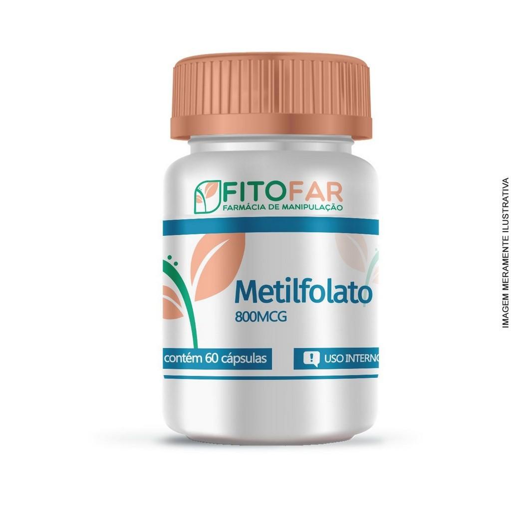 METILFOLATO 800MCG - REGULADOR DO METABOLISMO - 60 CÁPSULAS