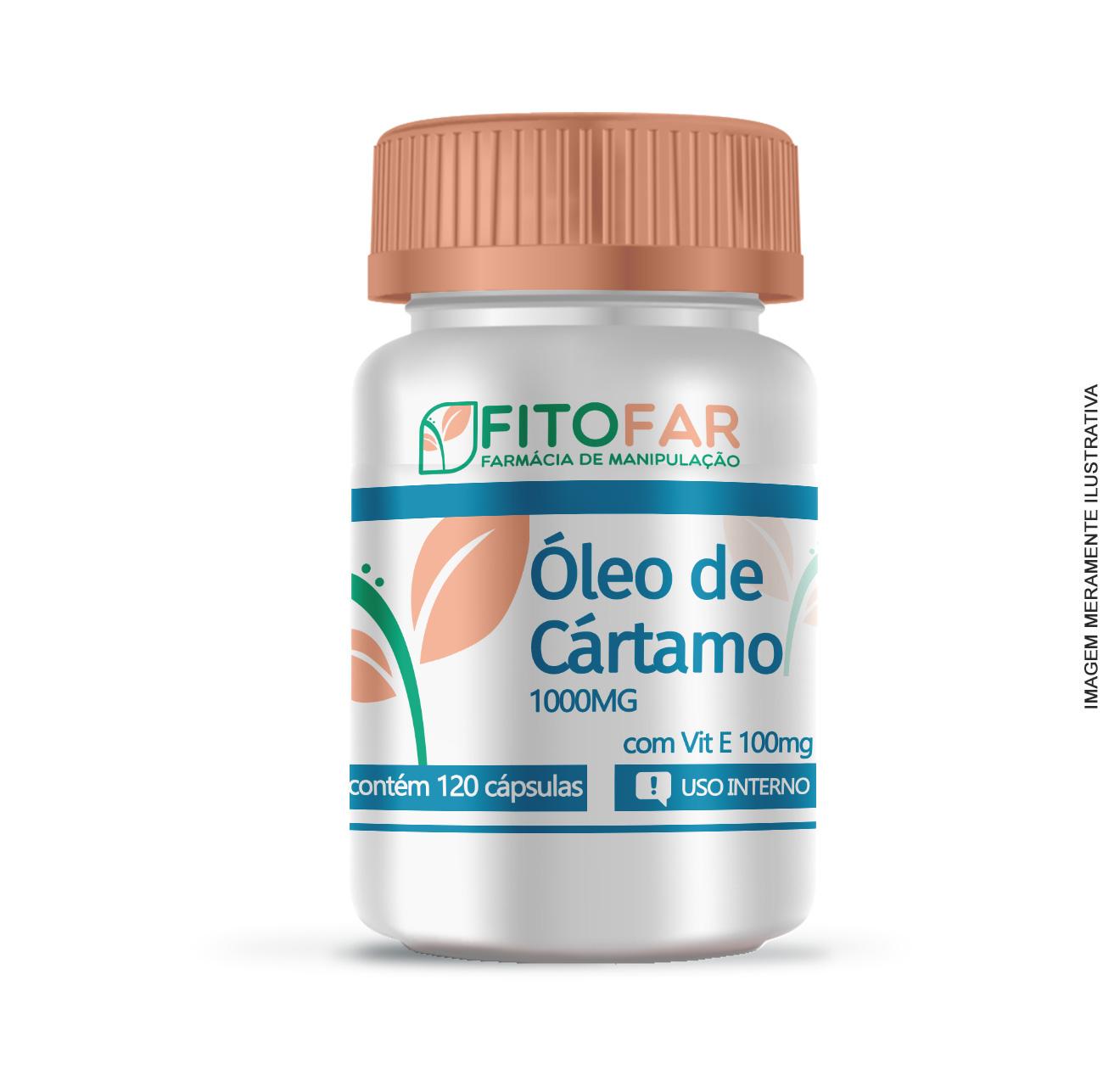 Óleo de Cártamo 1000mg - com Vitamina E 100mg - 120 cápsulas