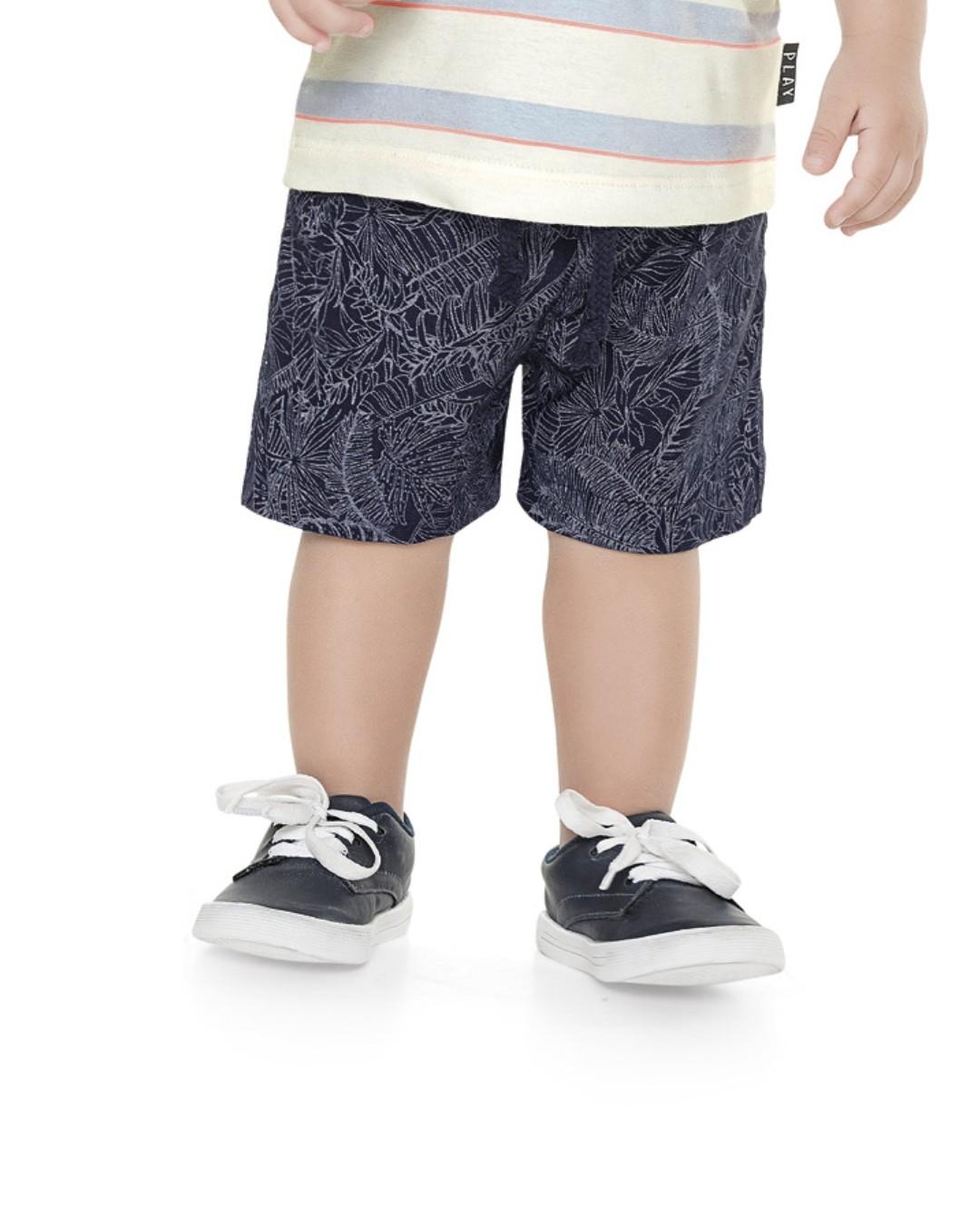 Bermuda Bebê e Infanto-Juvenil Estampa Folhas - Playground