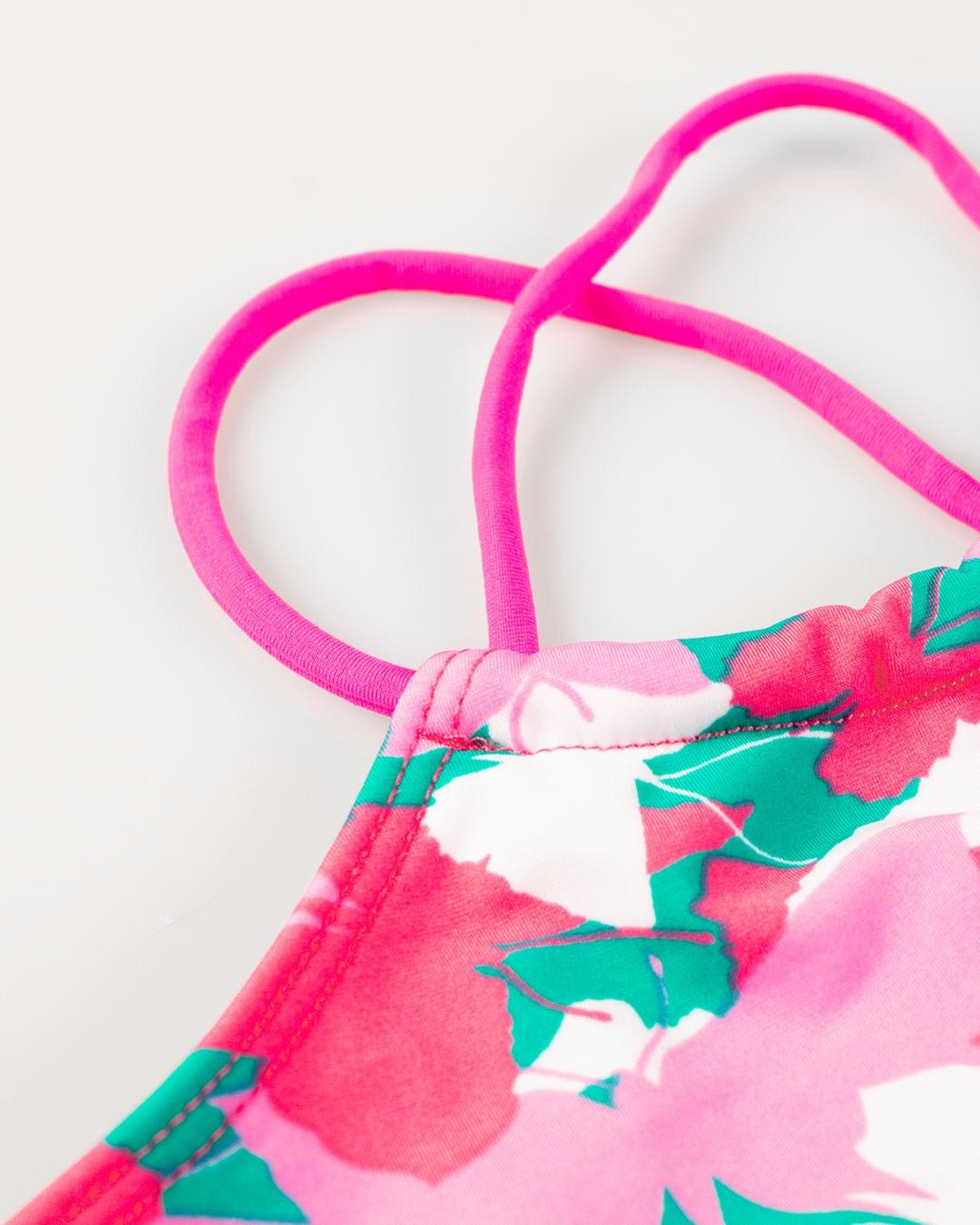 Biquini Infantil Estampado Rosa - VNT