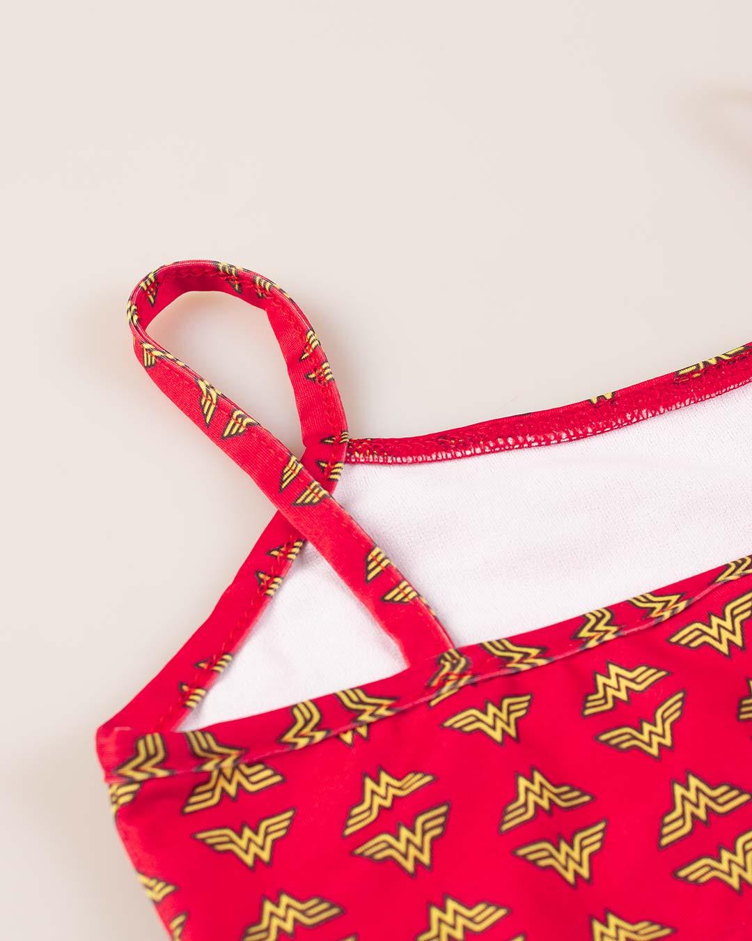 Biquini Infantil Wonder Woman Vermelho - VNT