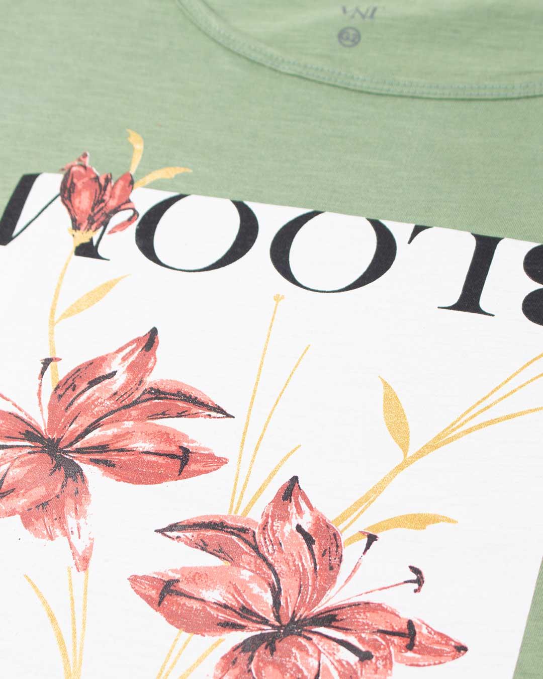 Blusa Adulta Plus Size Bloom Verde - VNT Confecções