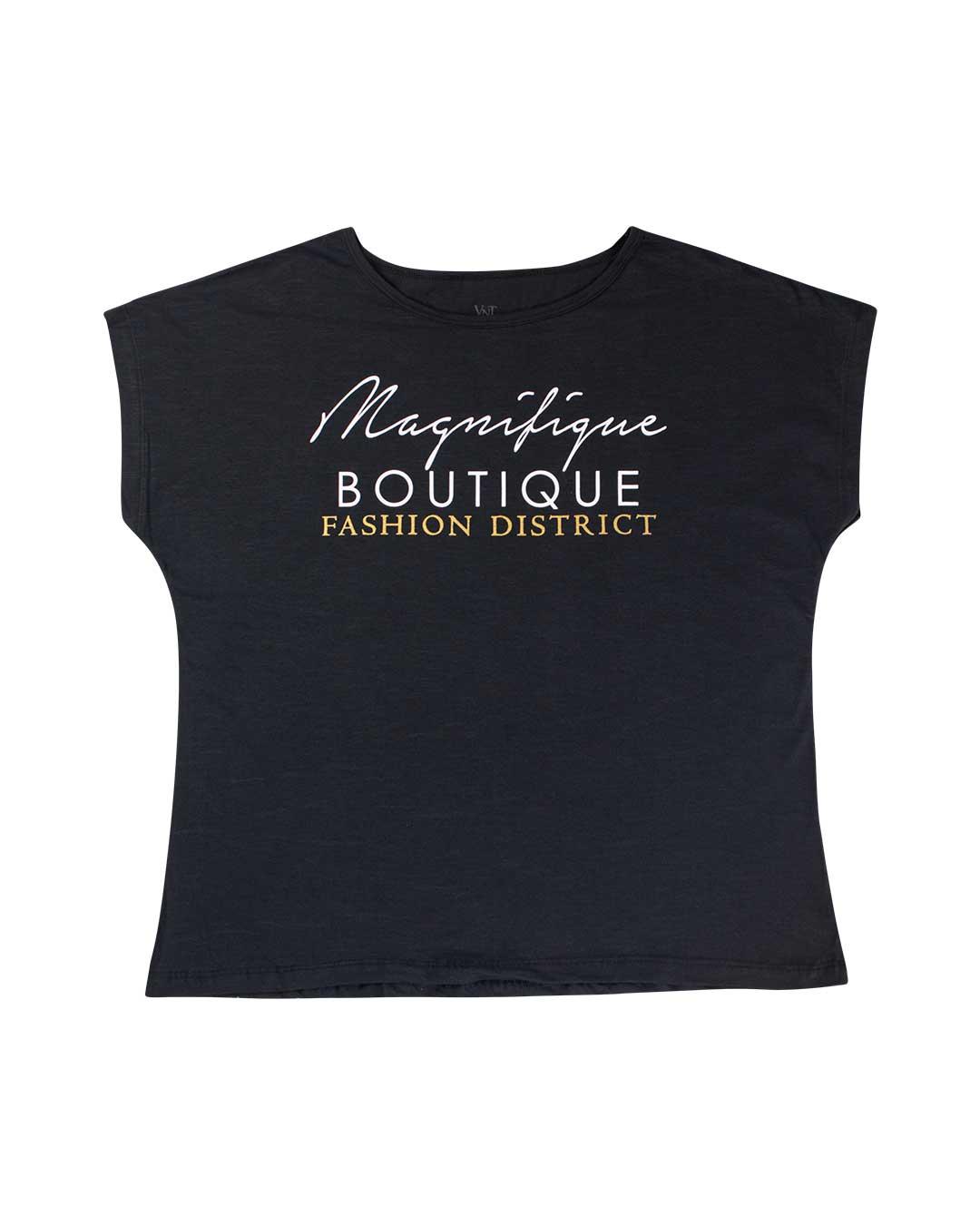 Blusa Adulta Plus Size Boutique Preto - VNT Confecções