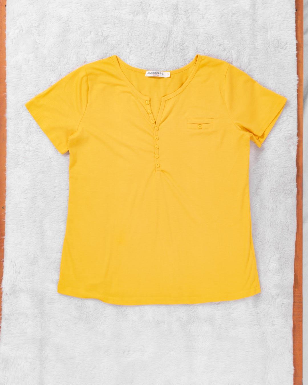 Blusa Adulta Com Botão e Bolso Falso - Jacksnipe