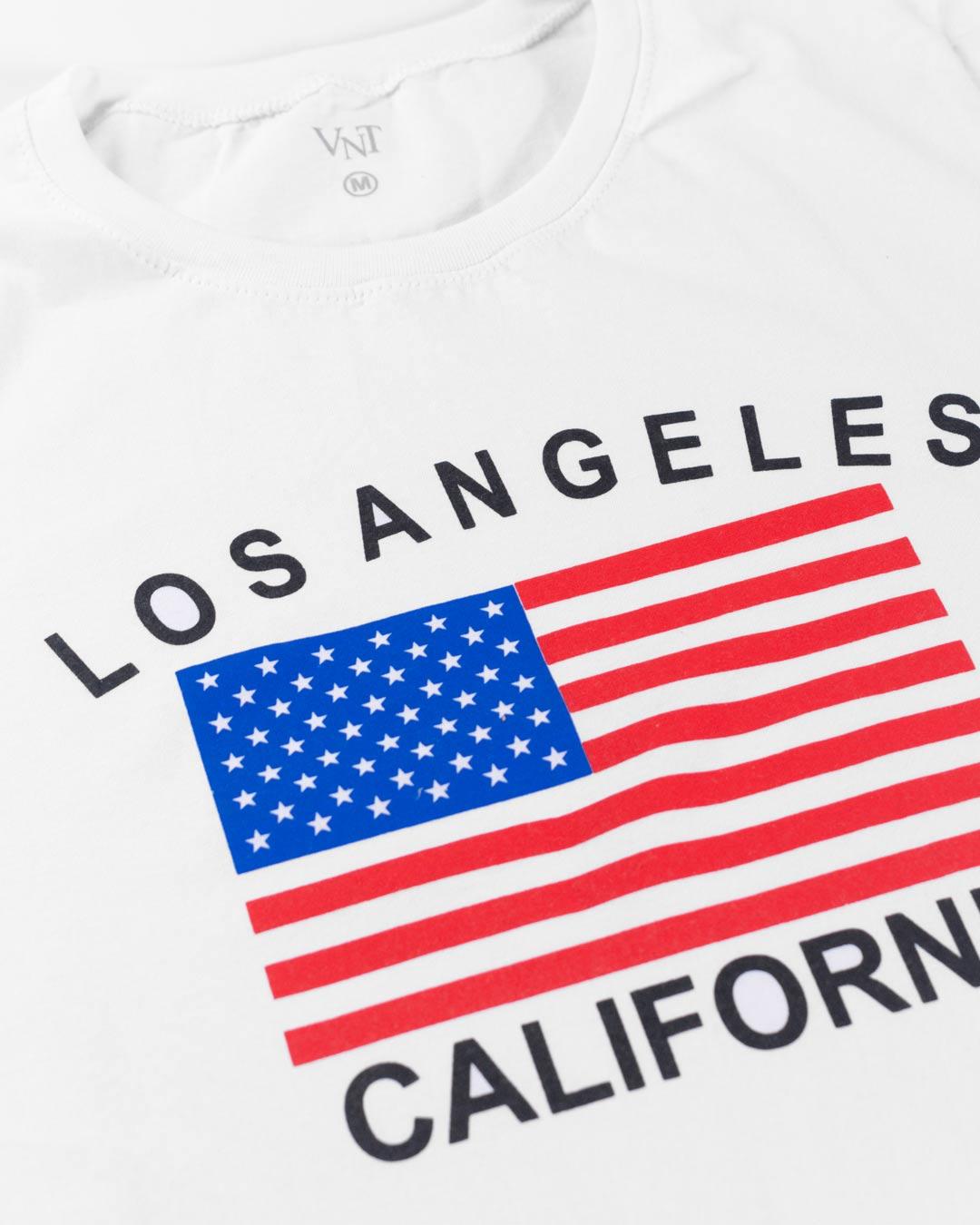 T-Shirt Adulta e Plus Size Los Angeles Califórnia Branco - Santa Margô