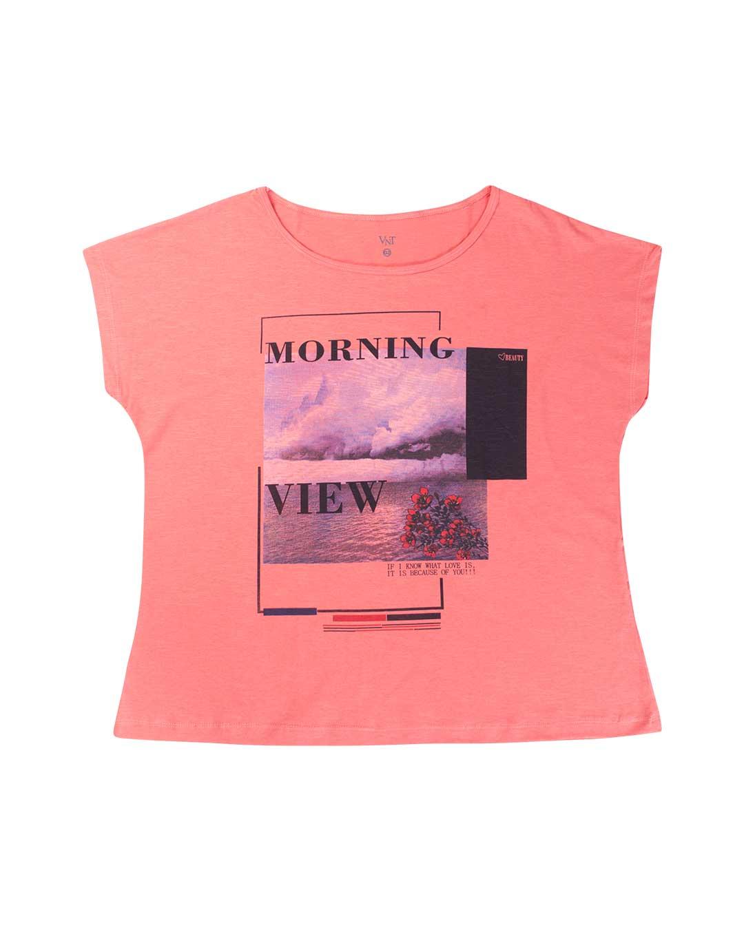Blusa Adulta Plus Size Morning Salmão - VNT Confecções