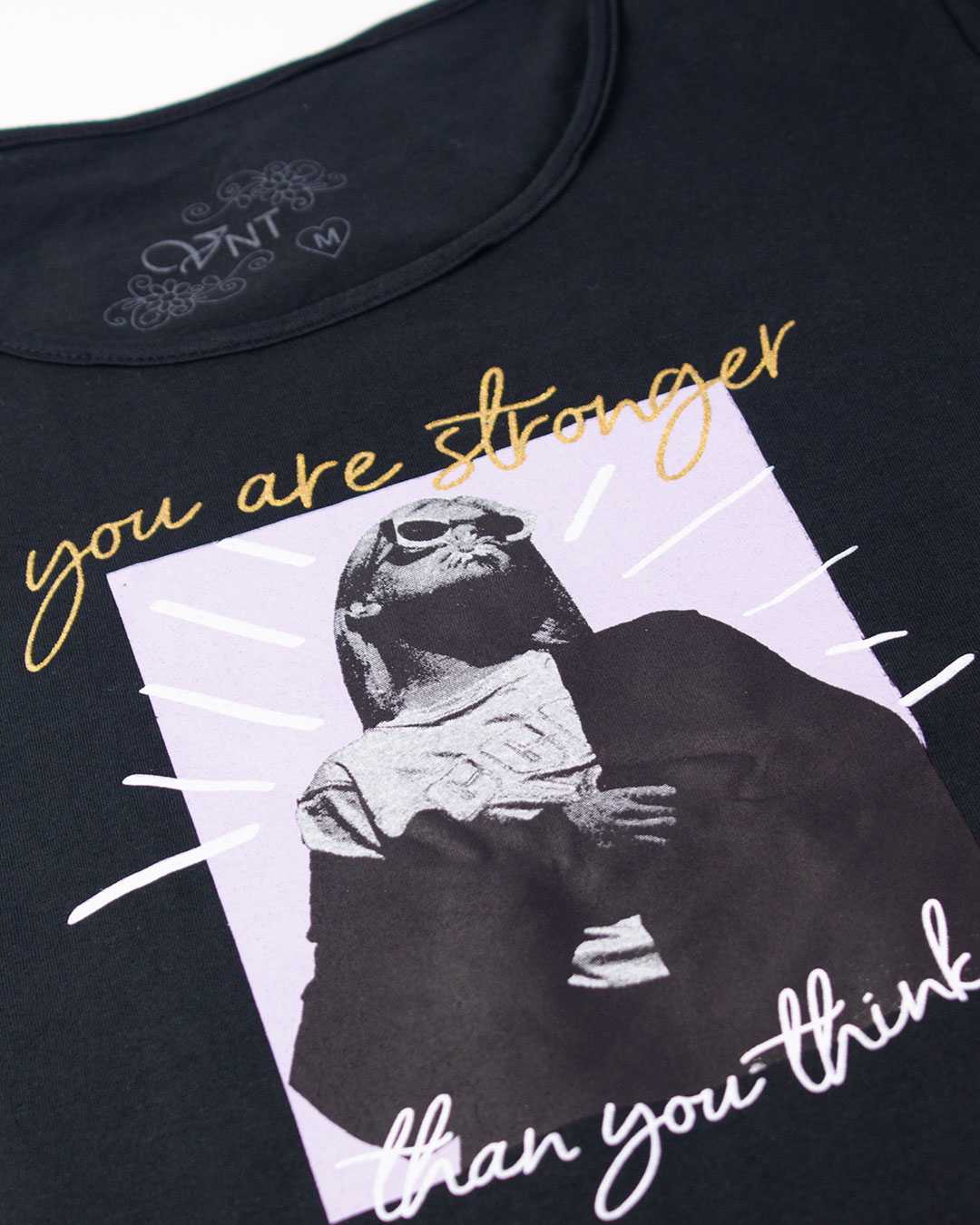 Blusa Adulta You Are Stronger Preto - VNT Confecções