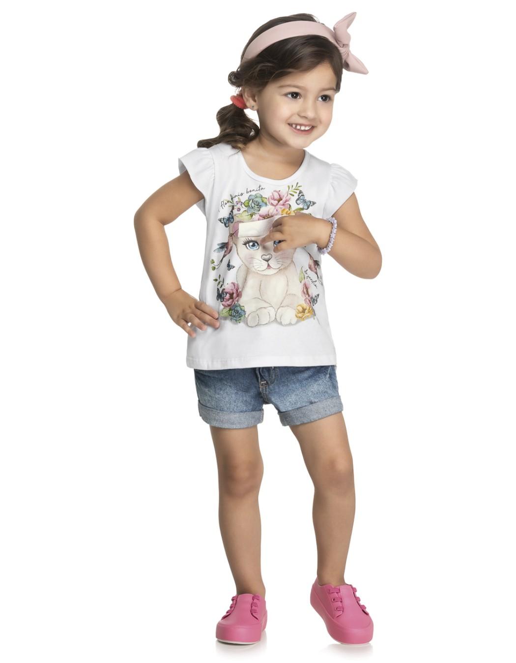 Blusa Bebê e Infantil Flores e Beija-Flor - Kely & Kety