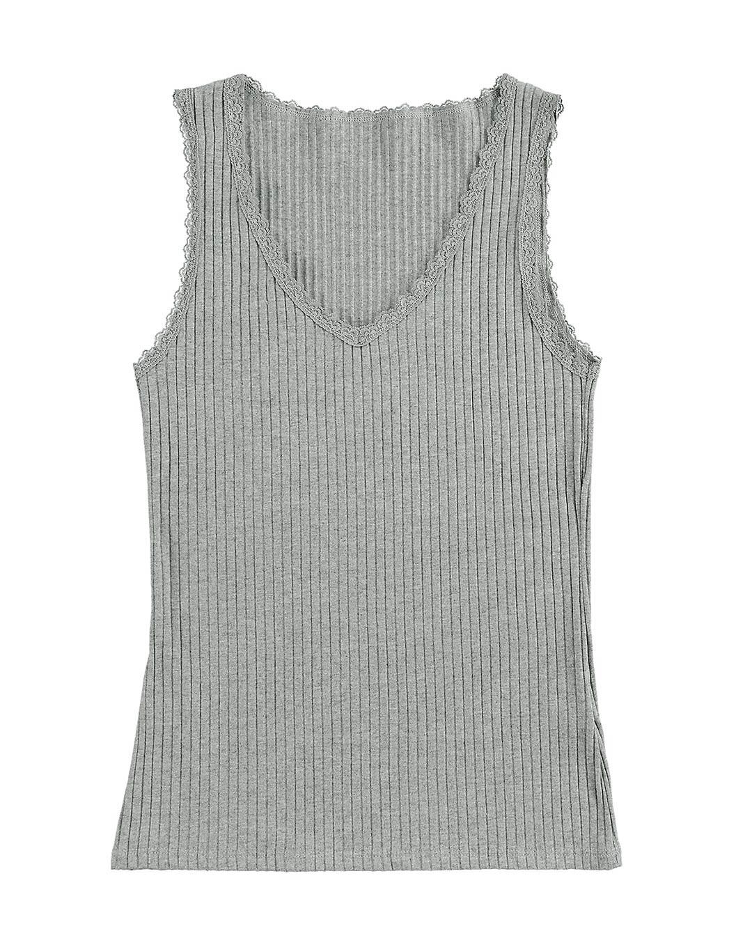 Blusa Feminina Canelada com Decote em U - Lecimar