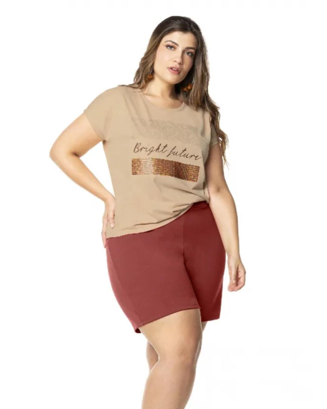 Blusa Feminina Plus Size Bright Future - Lecimar