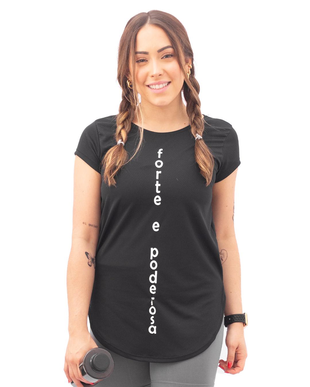 Blusa Fitness Sport Dry Forte e Poderosa - Movimente-se