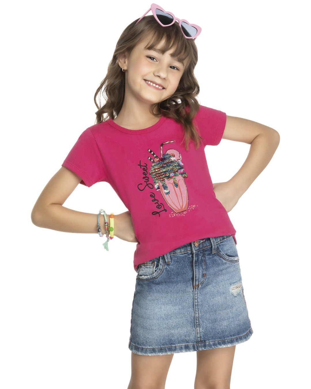 Blusa Infantil Love Sweet - Kely & Kety