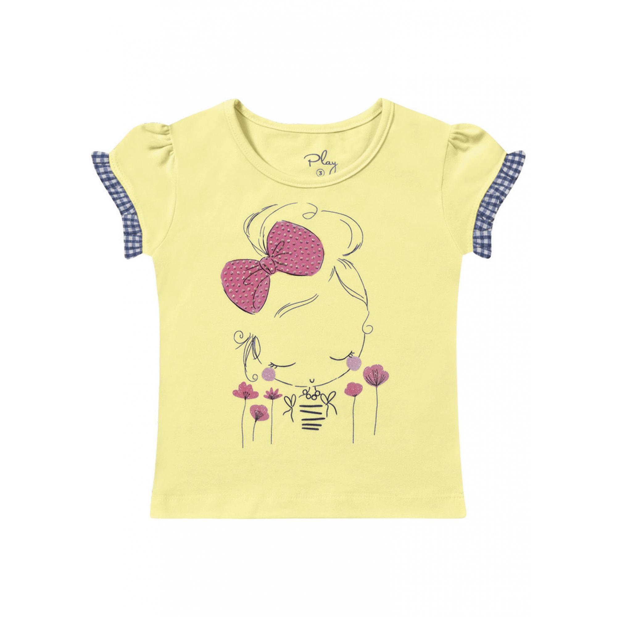 Blusa Infantil Menina e Laço com Strass - Playground