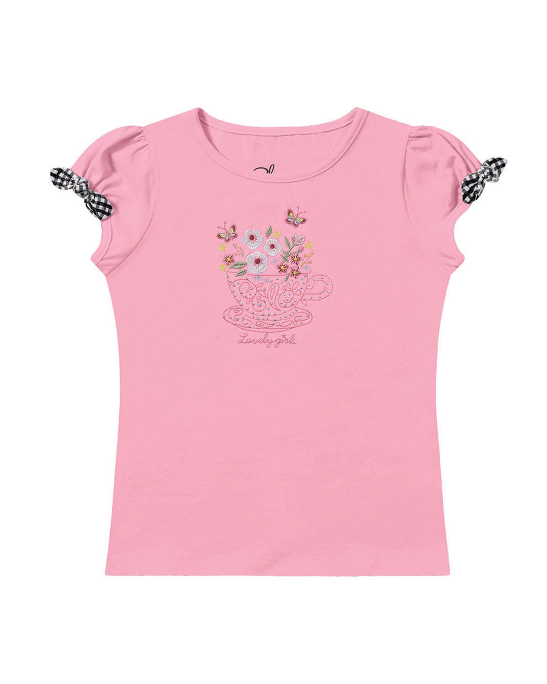 Blusa infantil Xícara e Flores - Playground