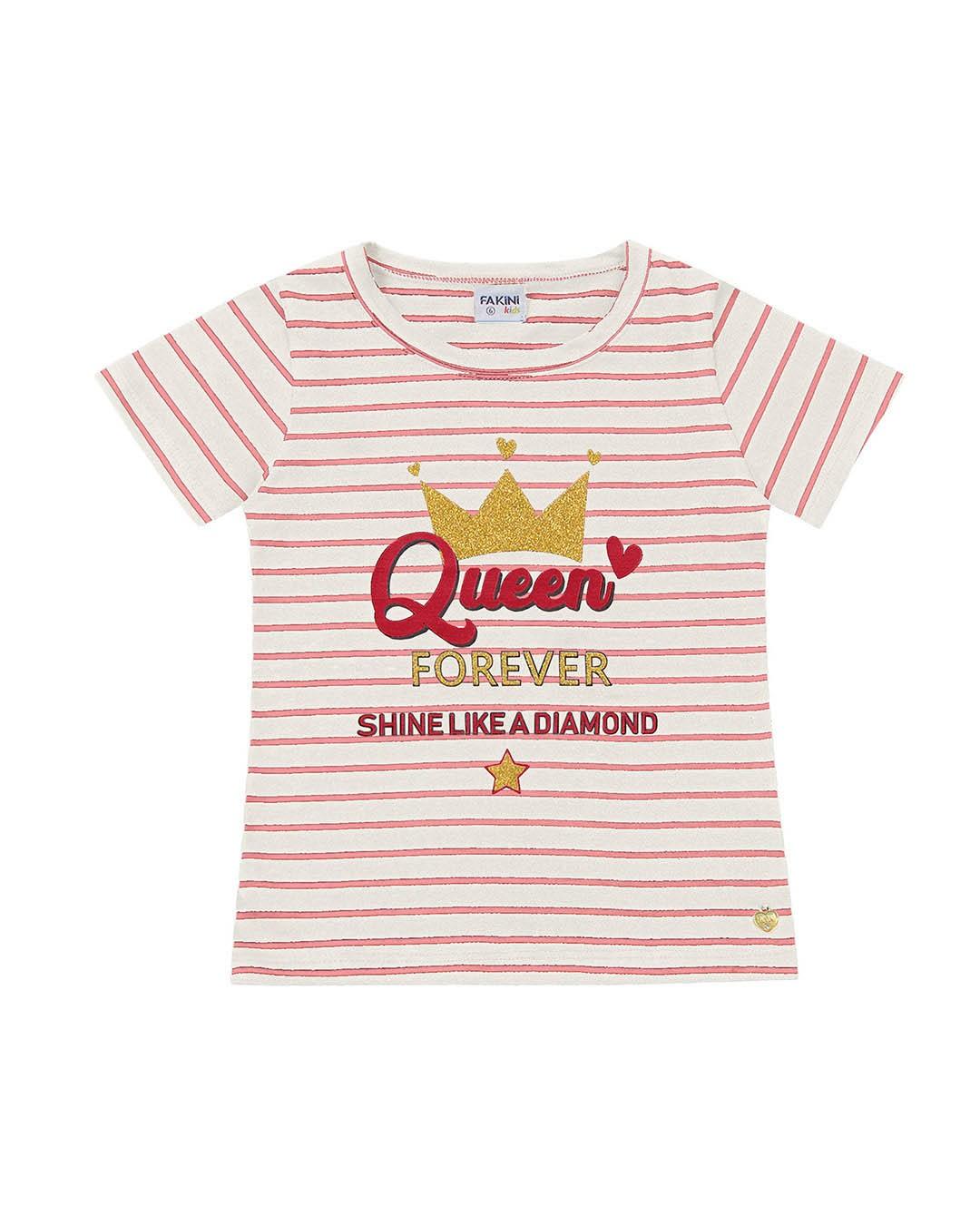 Blusa Juvenil Queen Listras - Fakini
