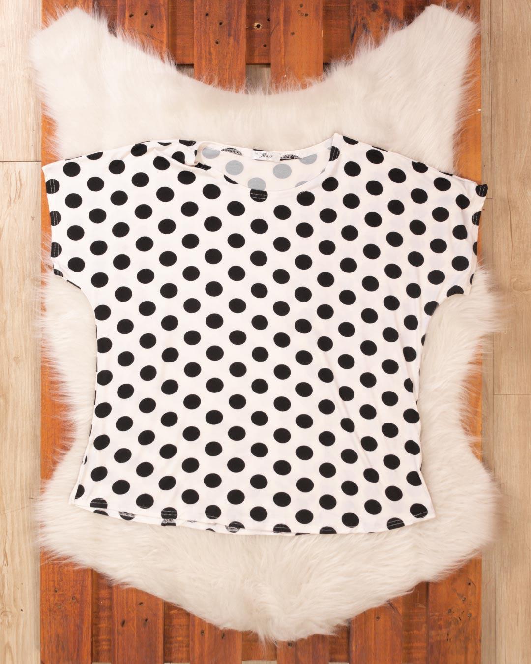 Blusa Plus Size Bolinhas - M & Y Fashion
