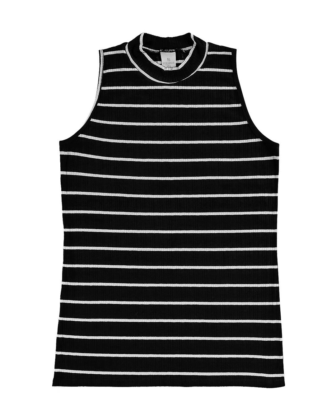 Blusa Plus Size Canelada Listrada - Lecimar