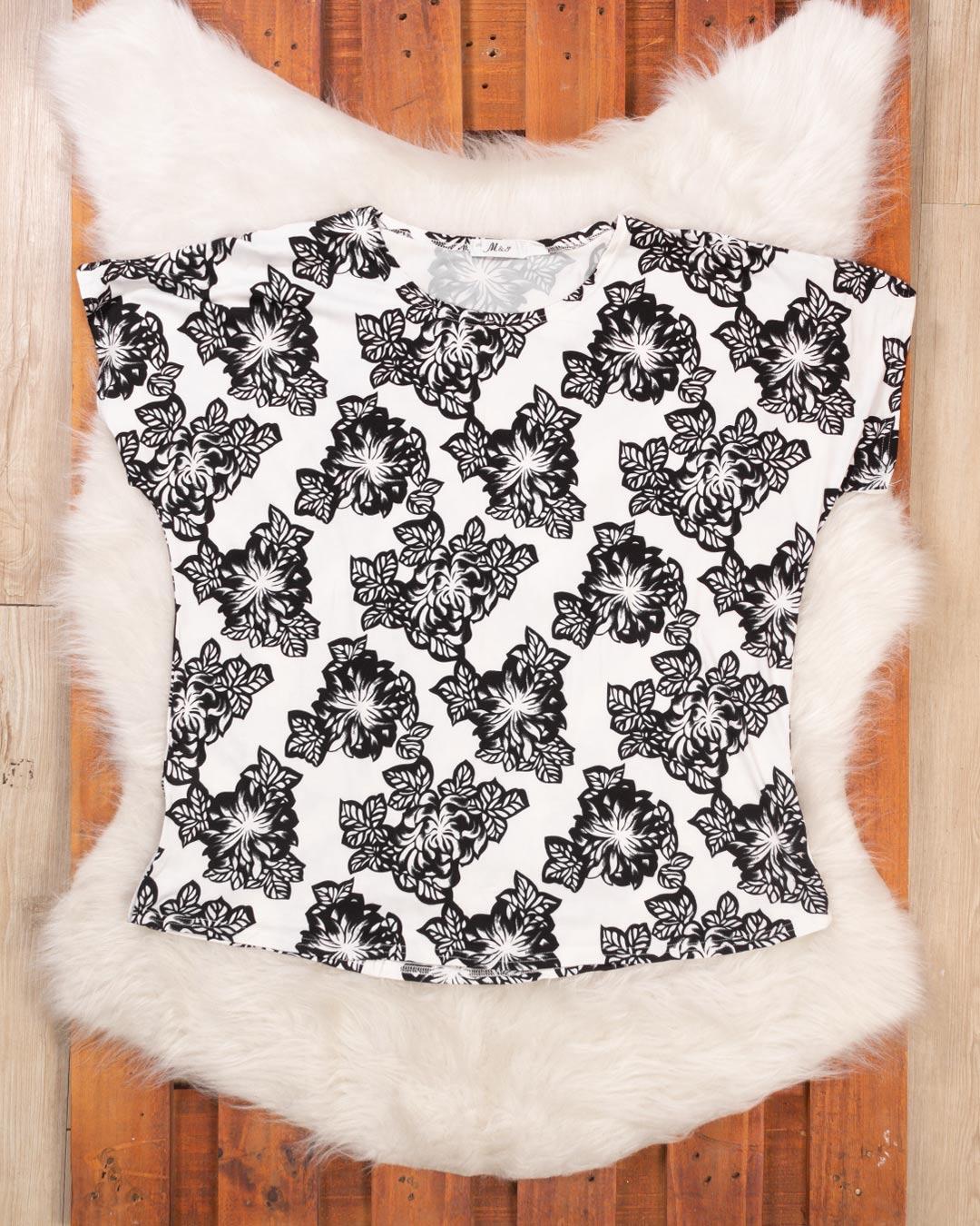 Blusa Plus Size Rosas - M & Y Fashion