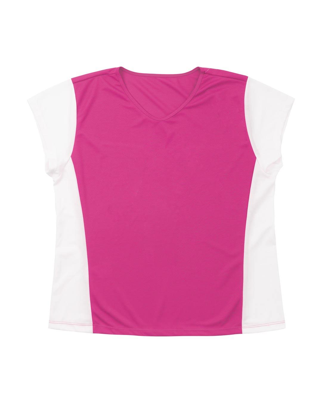 Blusa Plus Size Sport Dry Com Recorte Lateral Rosa Pink - Movimente-se