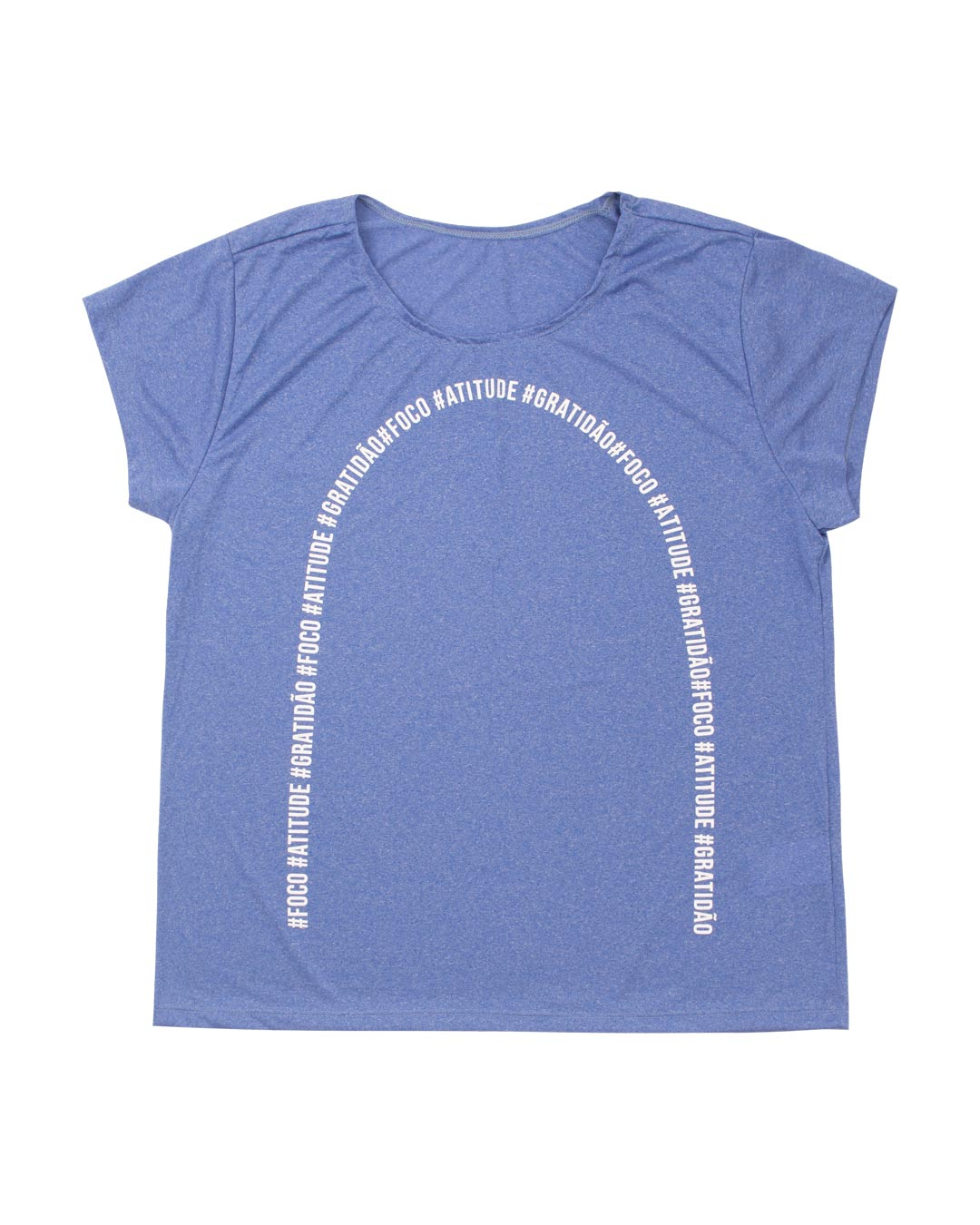 Blusa Plus Size Sport Dry #Foco #Atitude #Gratidão - Movimente-se