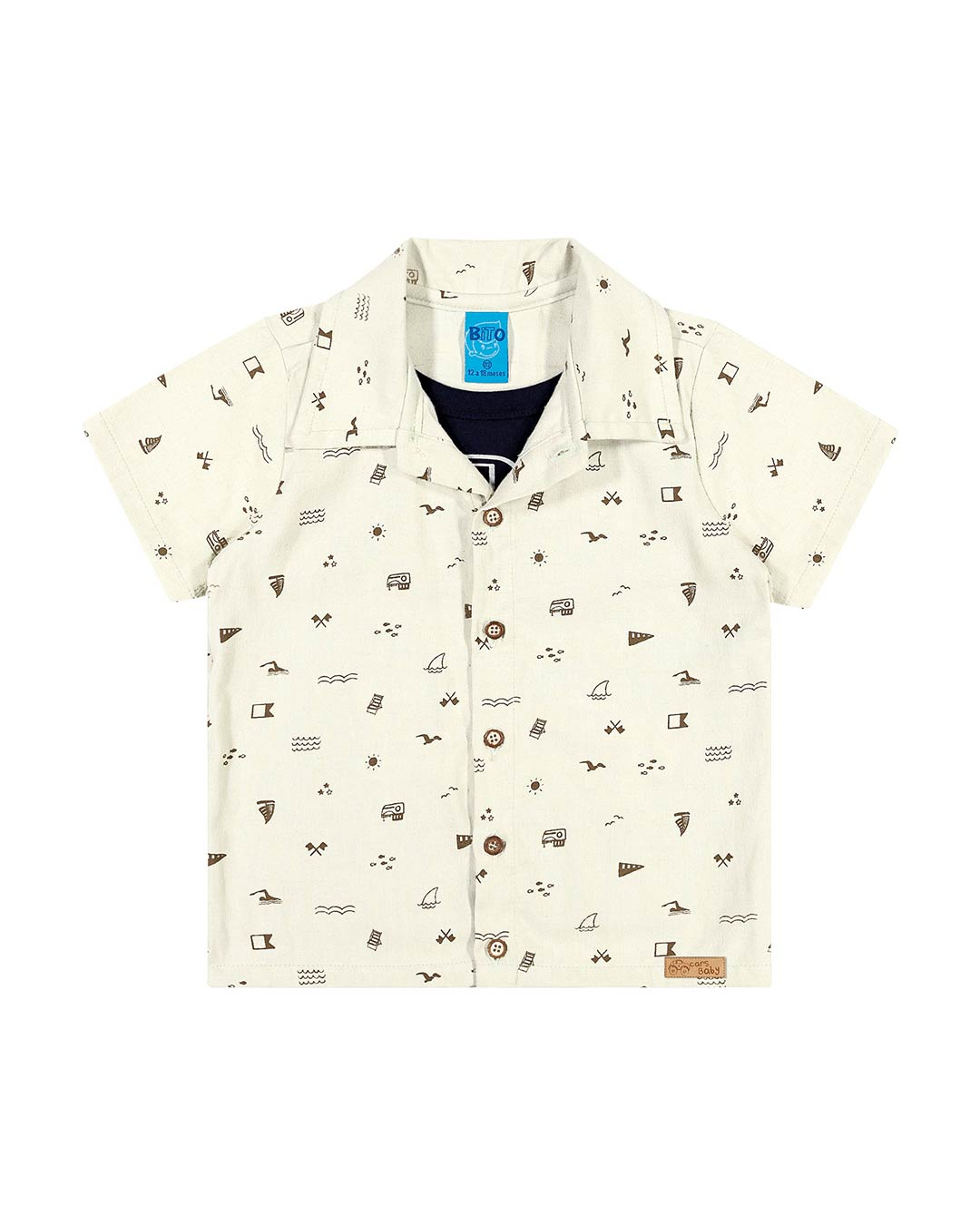 Camisa Polo Infantil Barquinhos - Lecimar