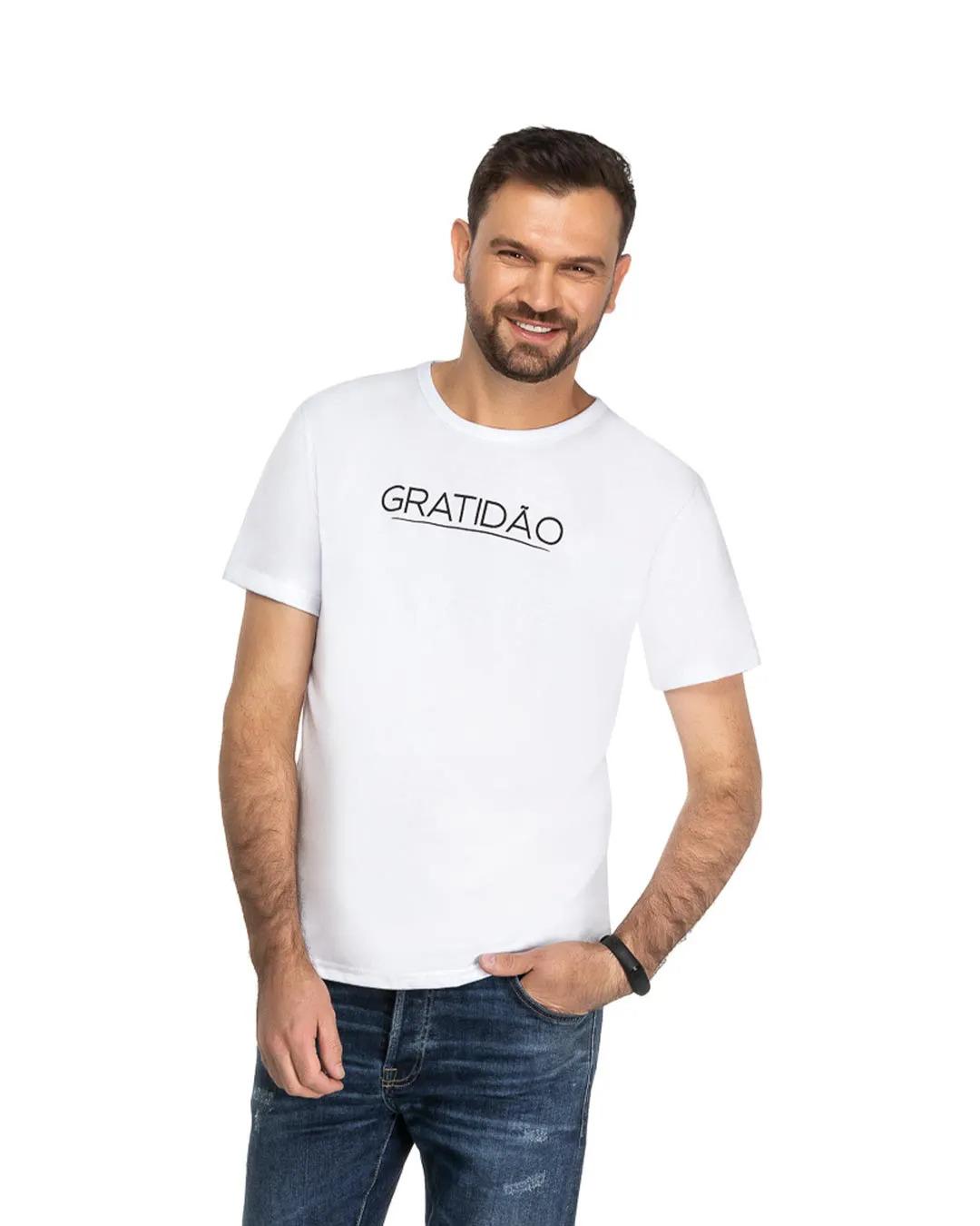 Camiseta Adulto Gratidão - Romitex