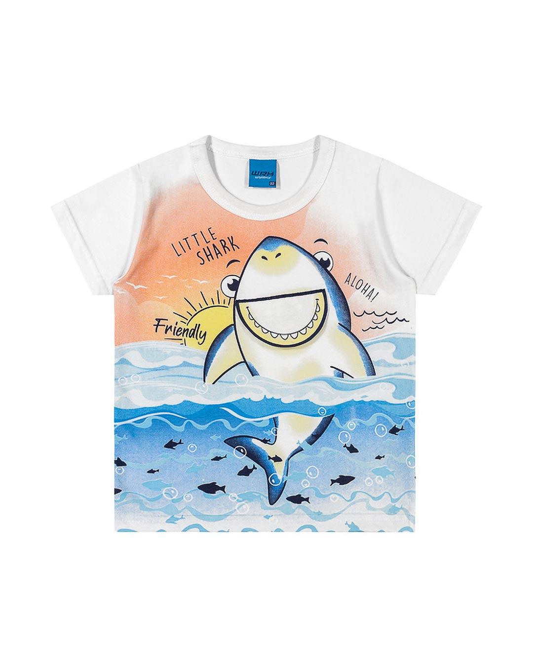 Camiseta Bebê e Infantil Little Shark - WRK