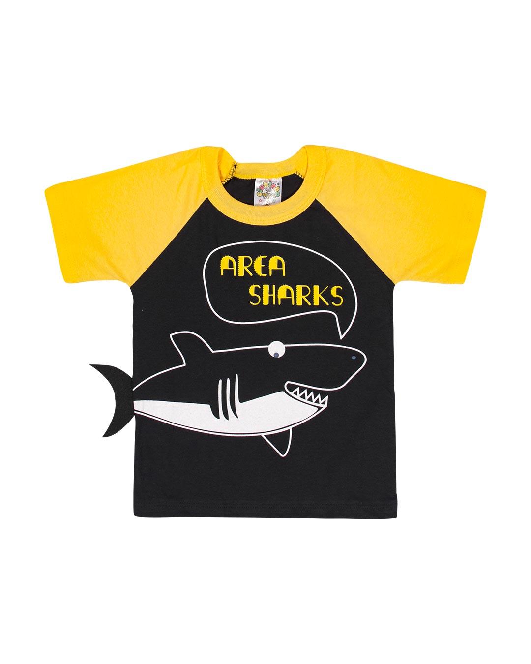 Camiseta Infantil Área Sharks - Clubinho