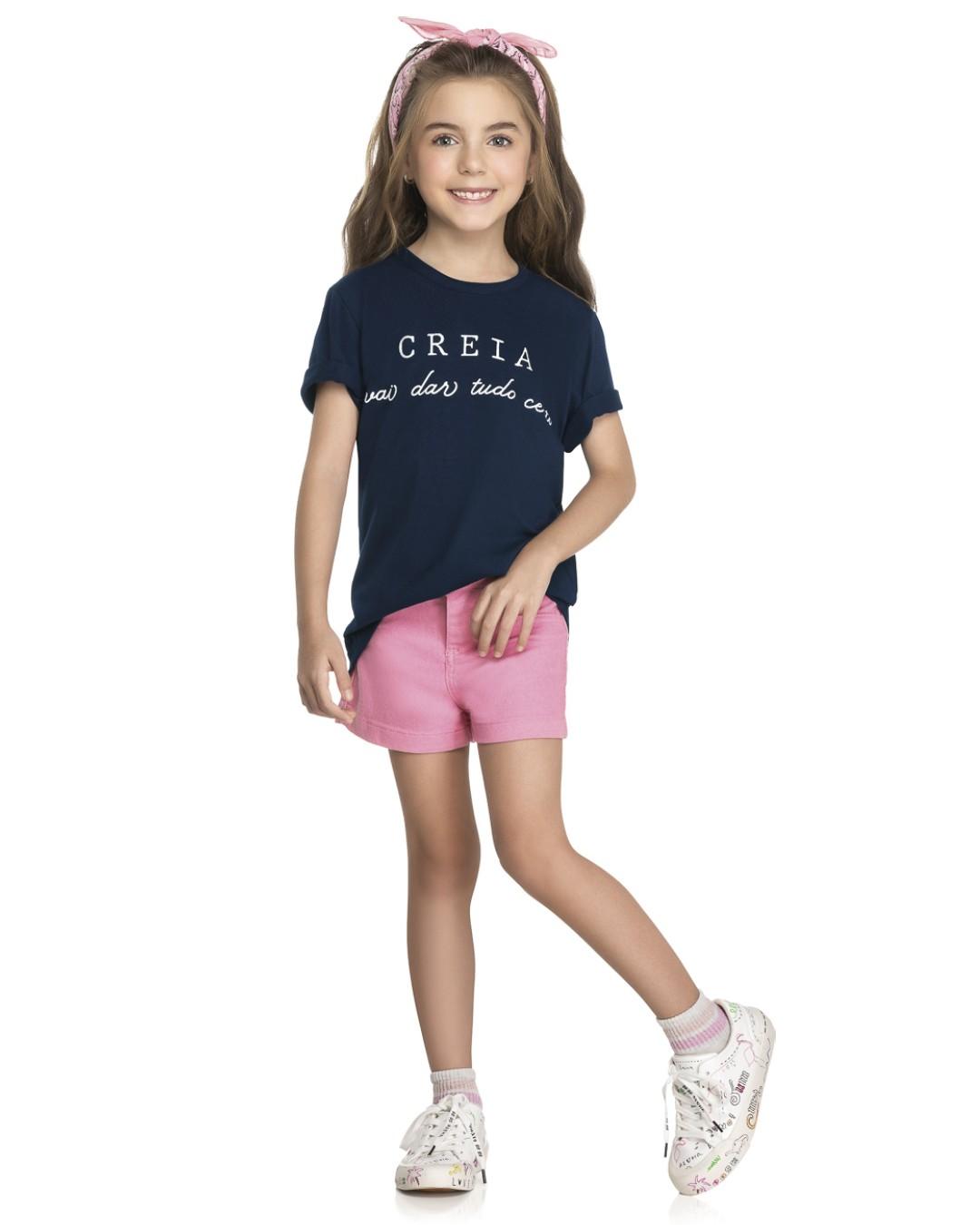 Camiseta Infantil Creia Tudo Vai Dar Certo - Romitex