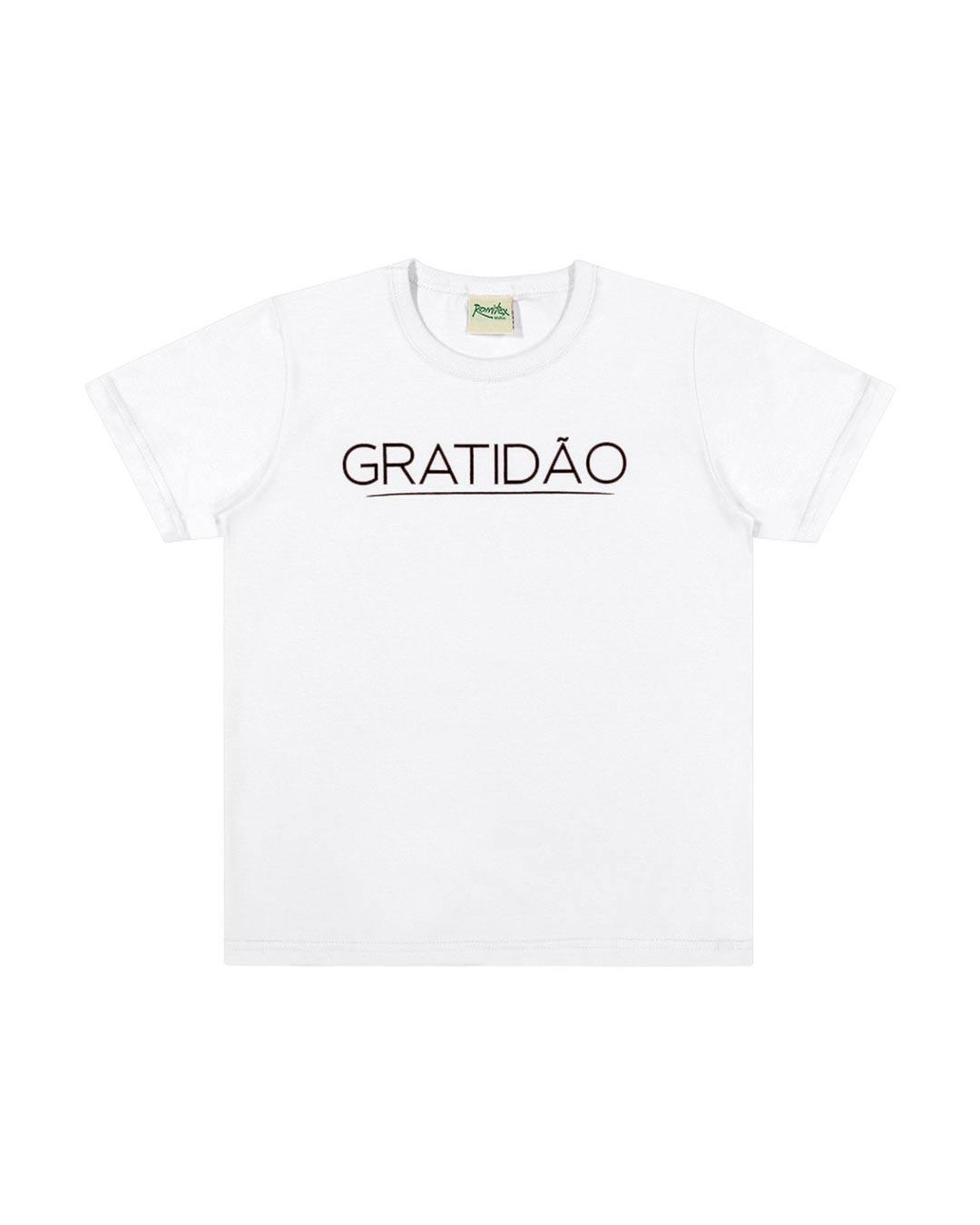 Camiseta Infantil Gratidão - Romitex