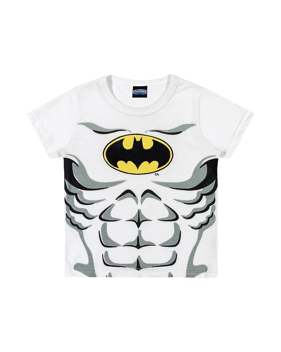Camiseta Infantil Hero Batman Branco - DC Super Friends