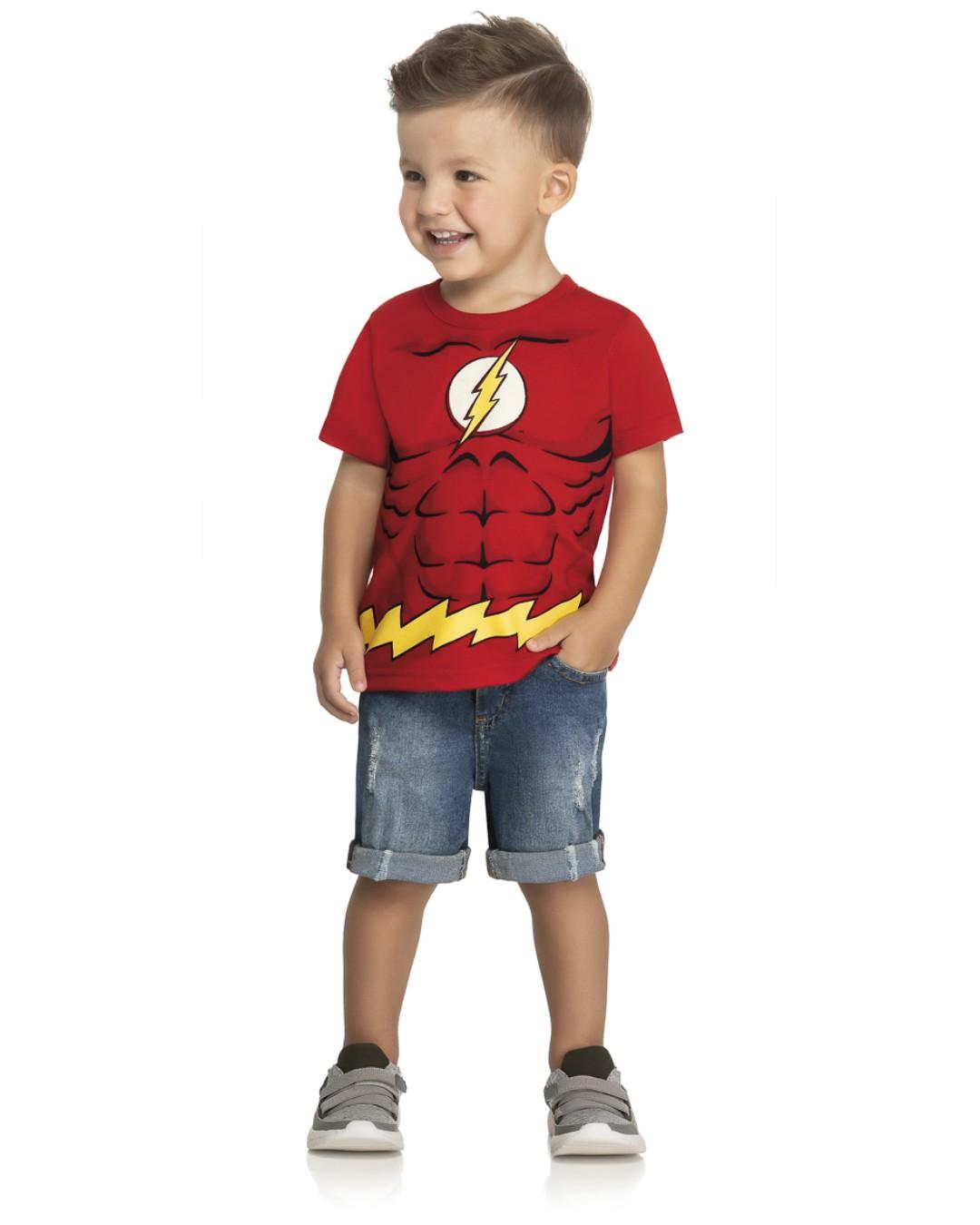 Camiseta Infantil Hero Flash Vermelho - DC Super Friends