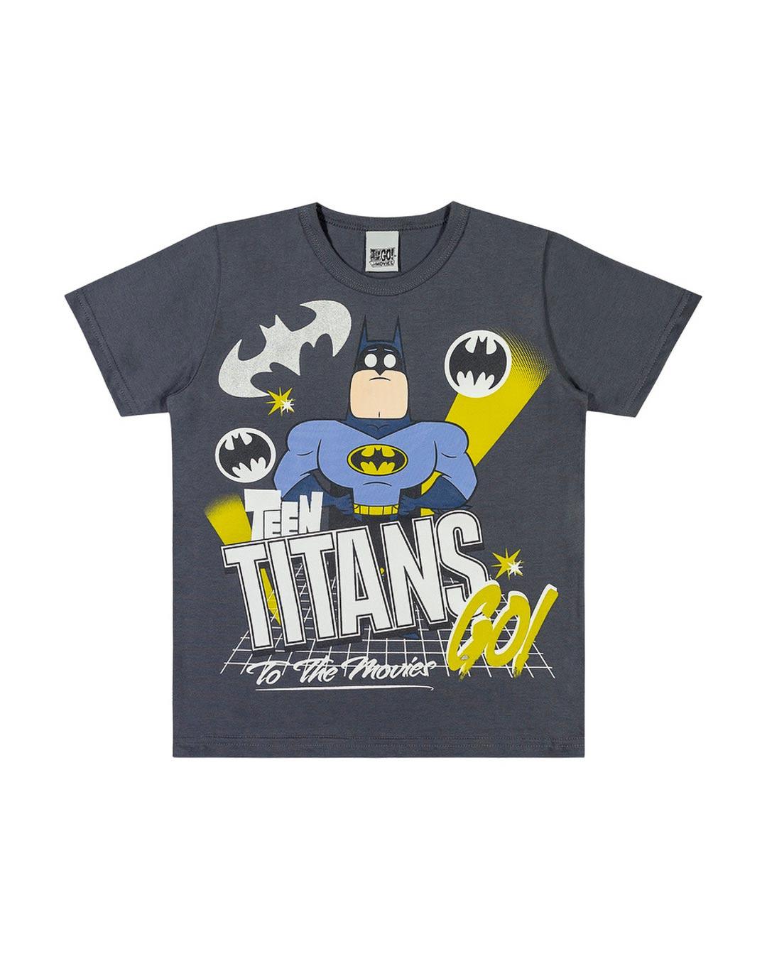 Camiseta Infantil Herói Batman Titans Go - WRK