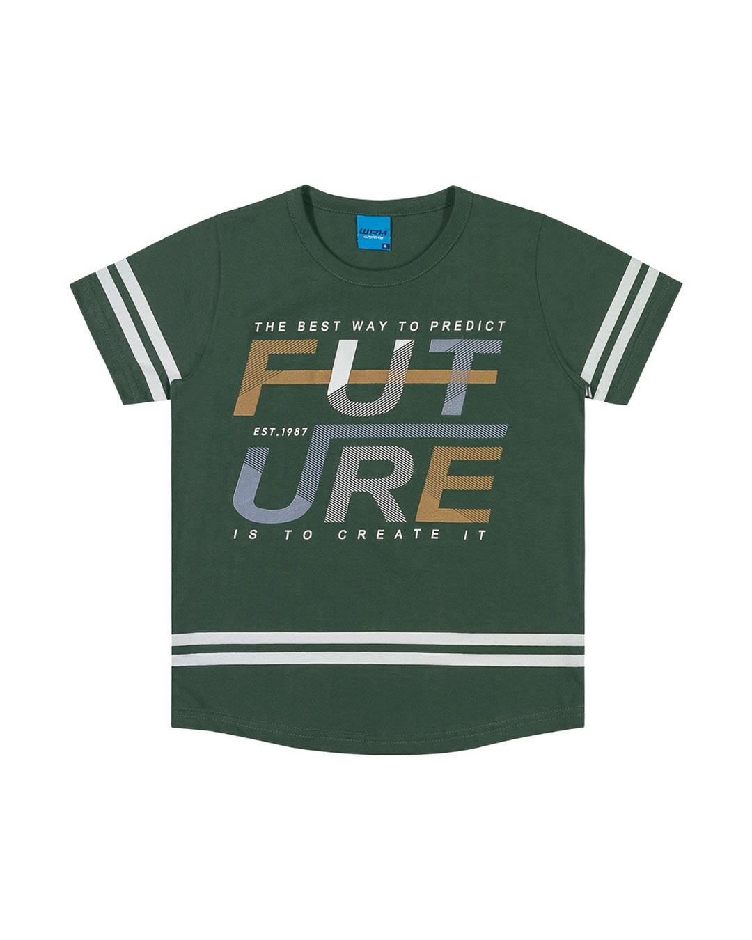 Camiseta Infantil The Best Way To Future - WRK