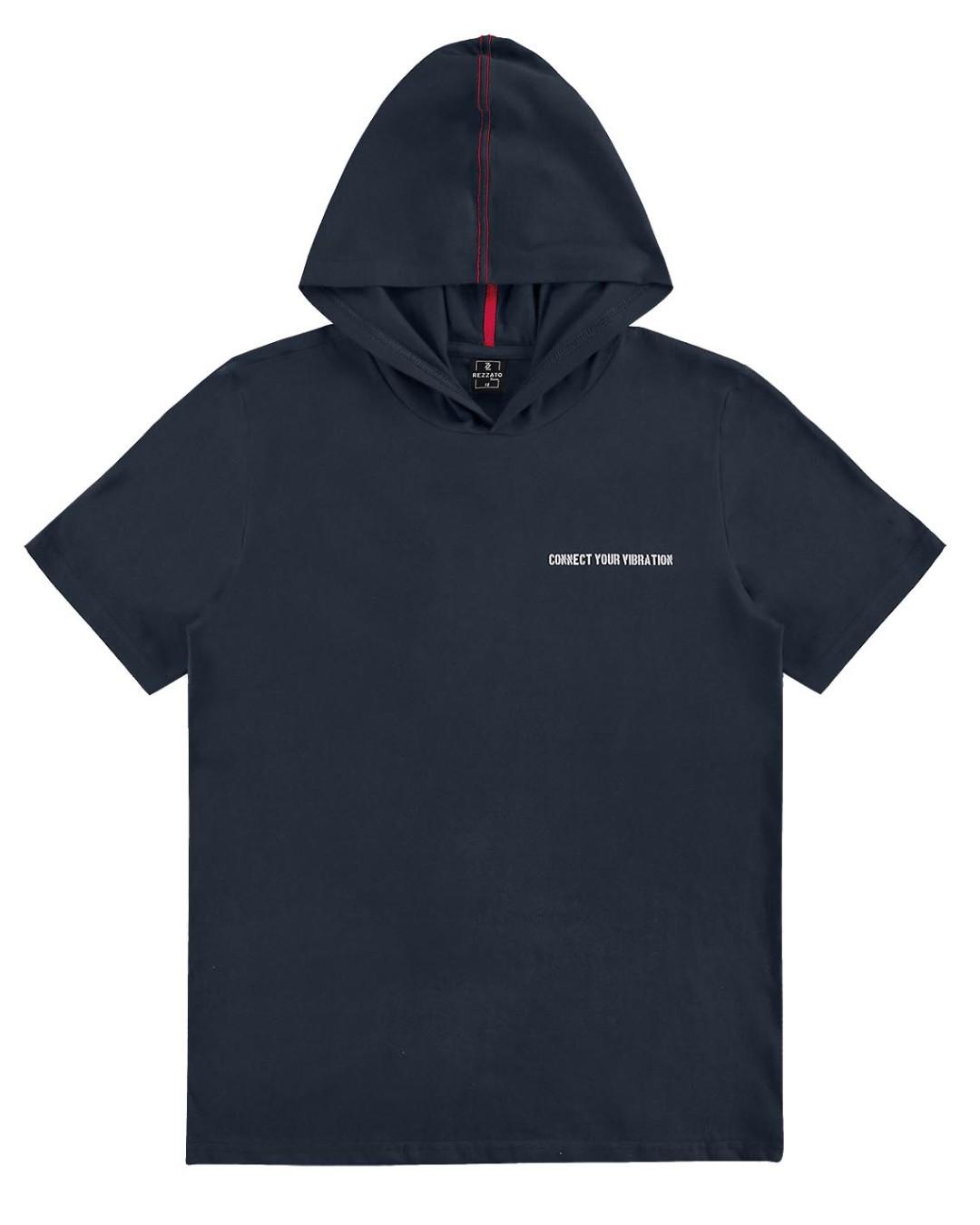 Camiseta Juvenil com Capuz Connect - Rezzato