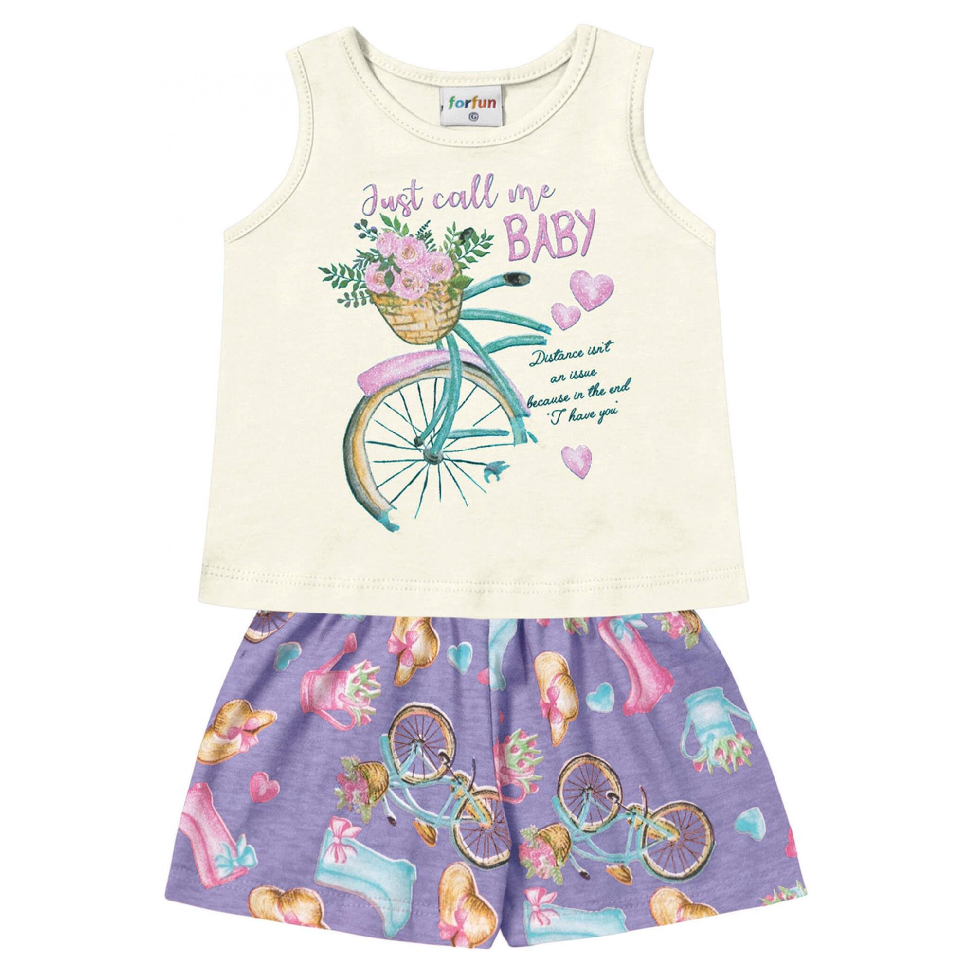 Conjunto Bebê Bicicleta - For Fun