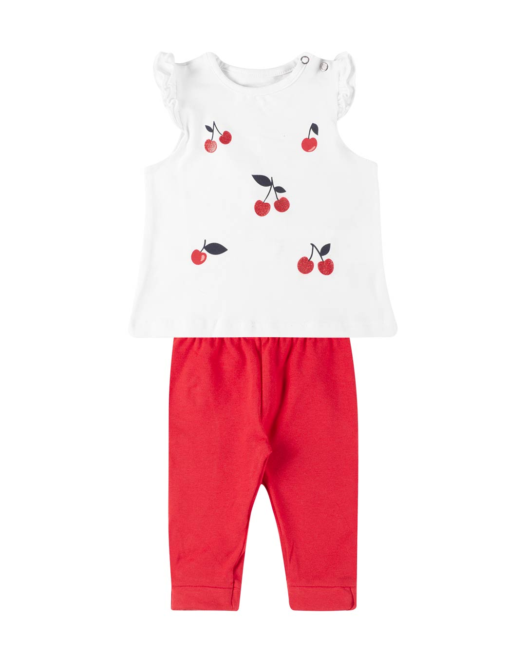 Conjunto Bebê Cerejas Branco - Fakini