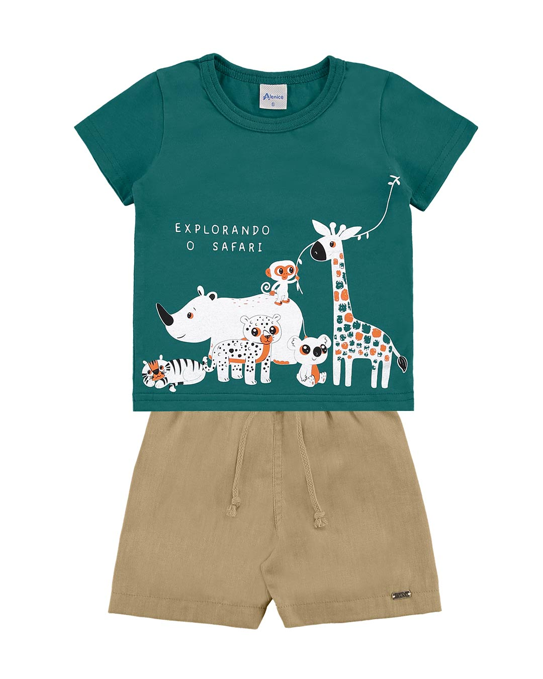 Conjunto Bebê Explorando o Safari - Alenice