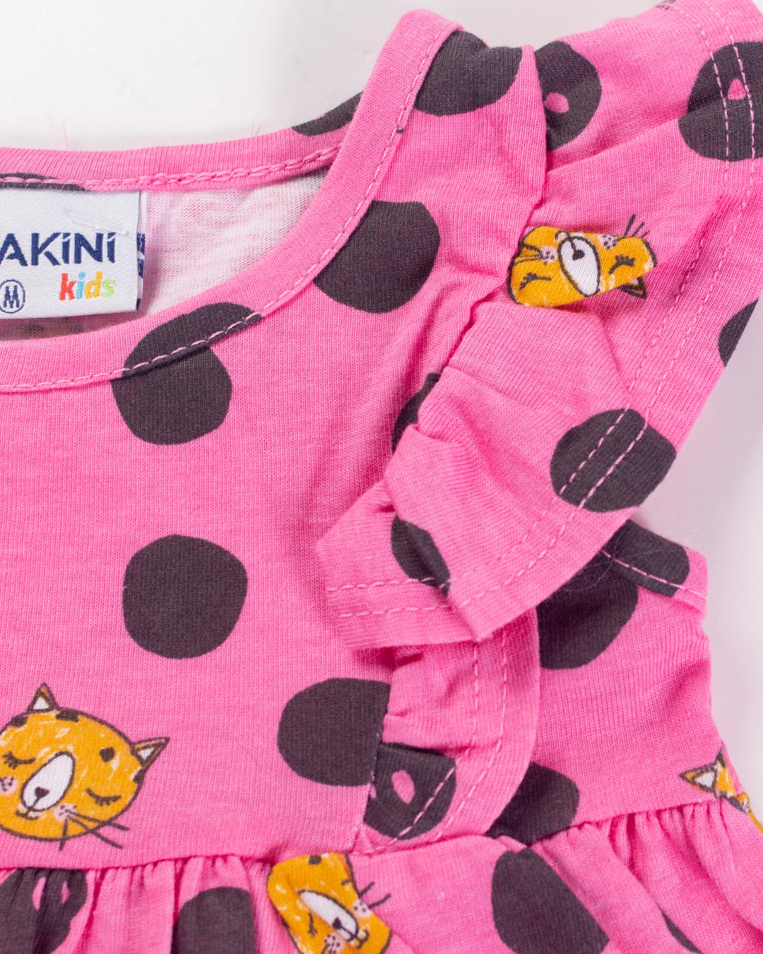 Conjunto Bebê Gatinhos Rosa - Fakini Kids