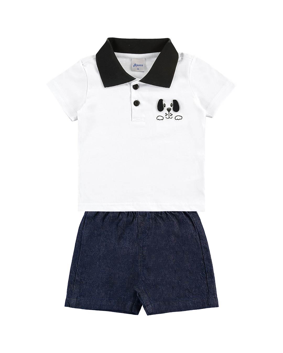 Conjunto Bebê Polo Dog - Alenice