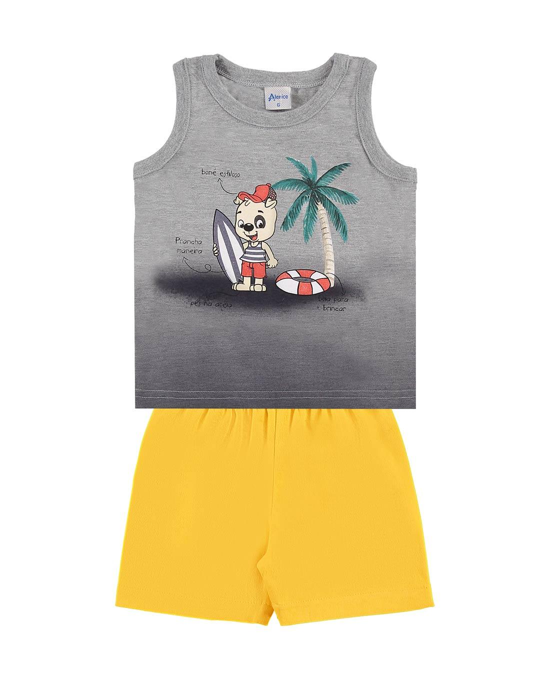 Conjunto Bebê Regata e Bermuda Praia - Alenice