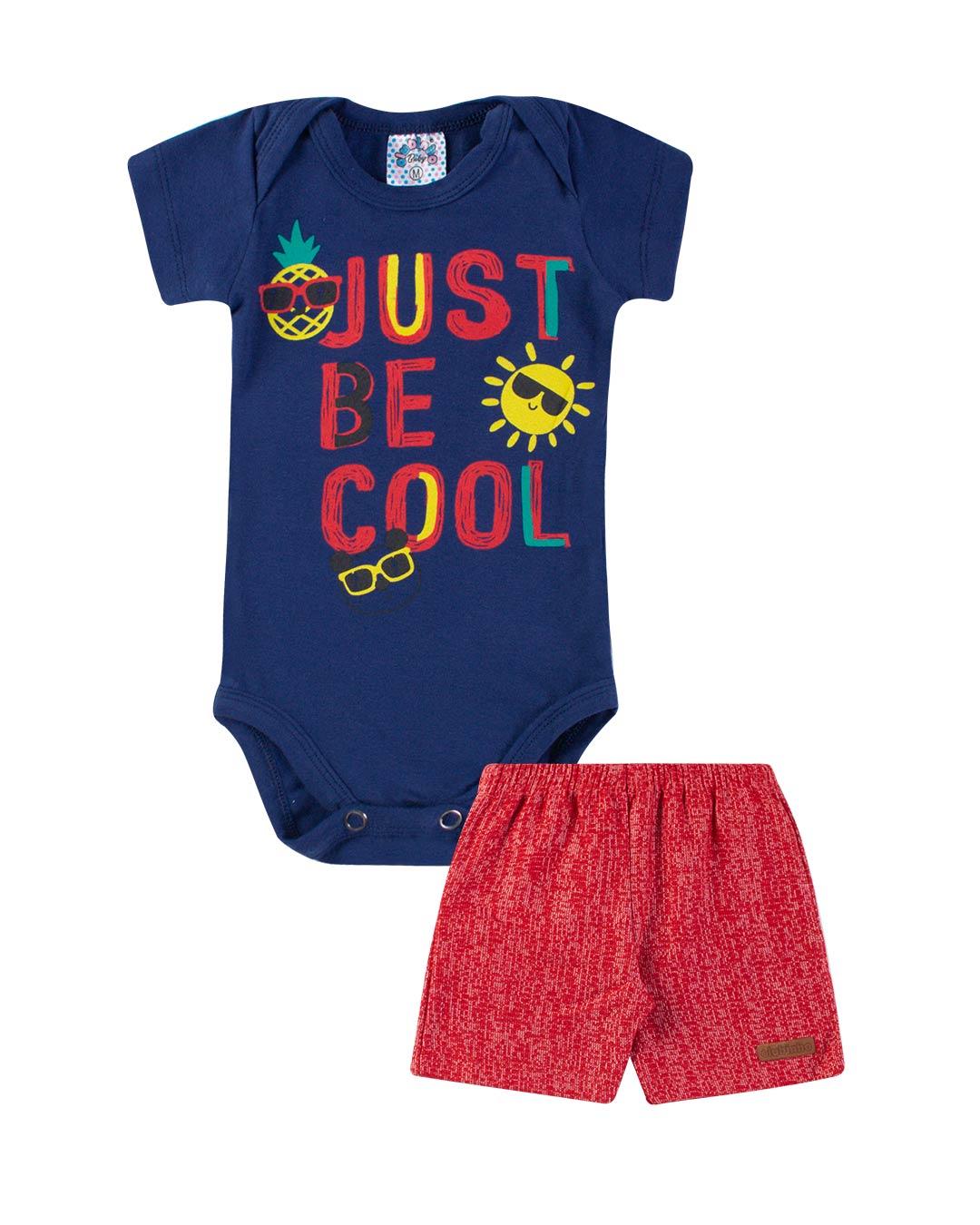 Conjunto Body Bebê Just Be Cool - Clubinho