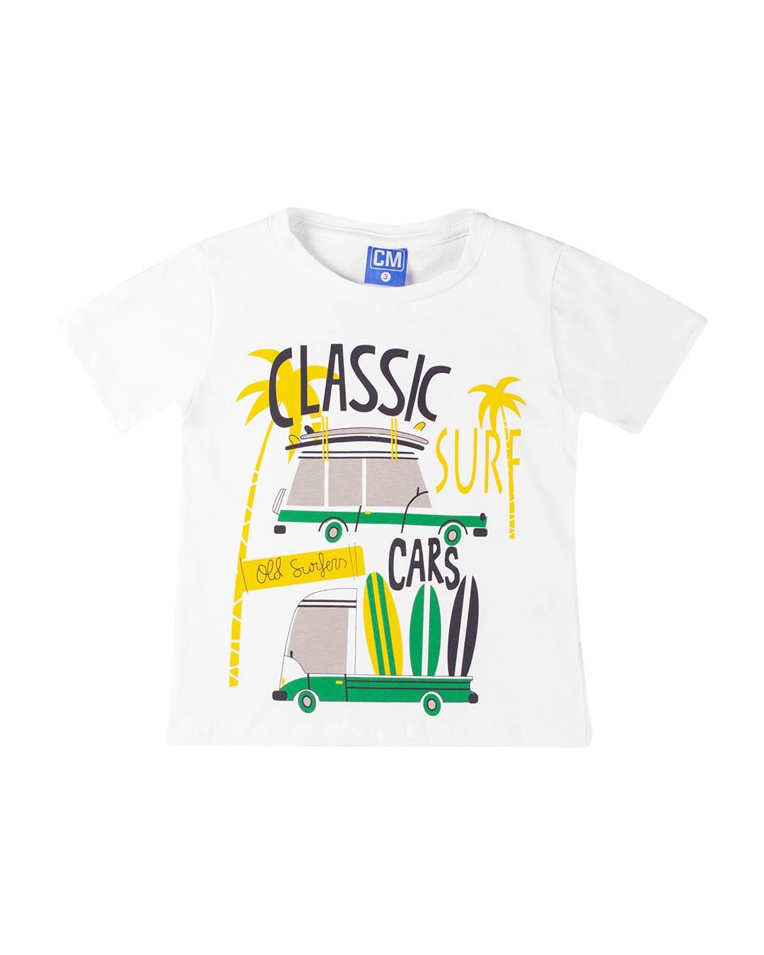 Conjunto Infantil Classic Cars Branco - Cara Metade