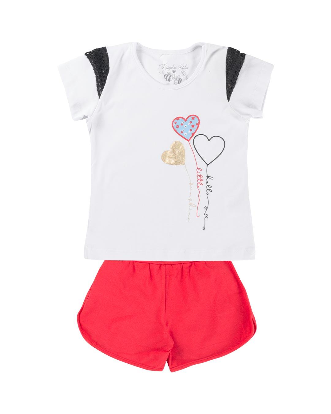Conjunto Infantil Corações - Maydu Kids