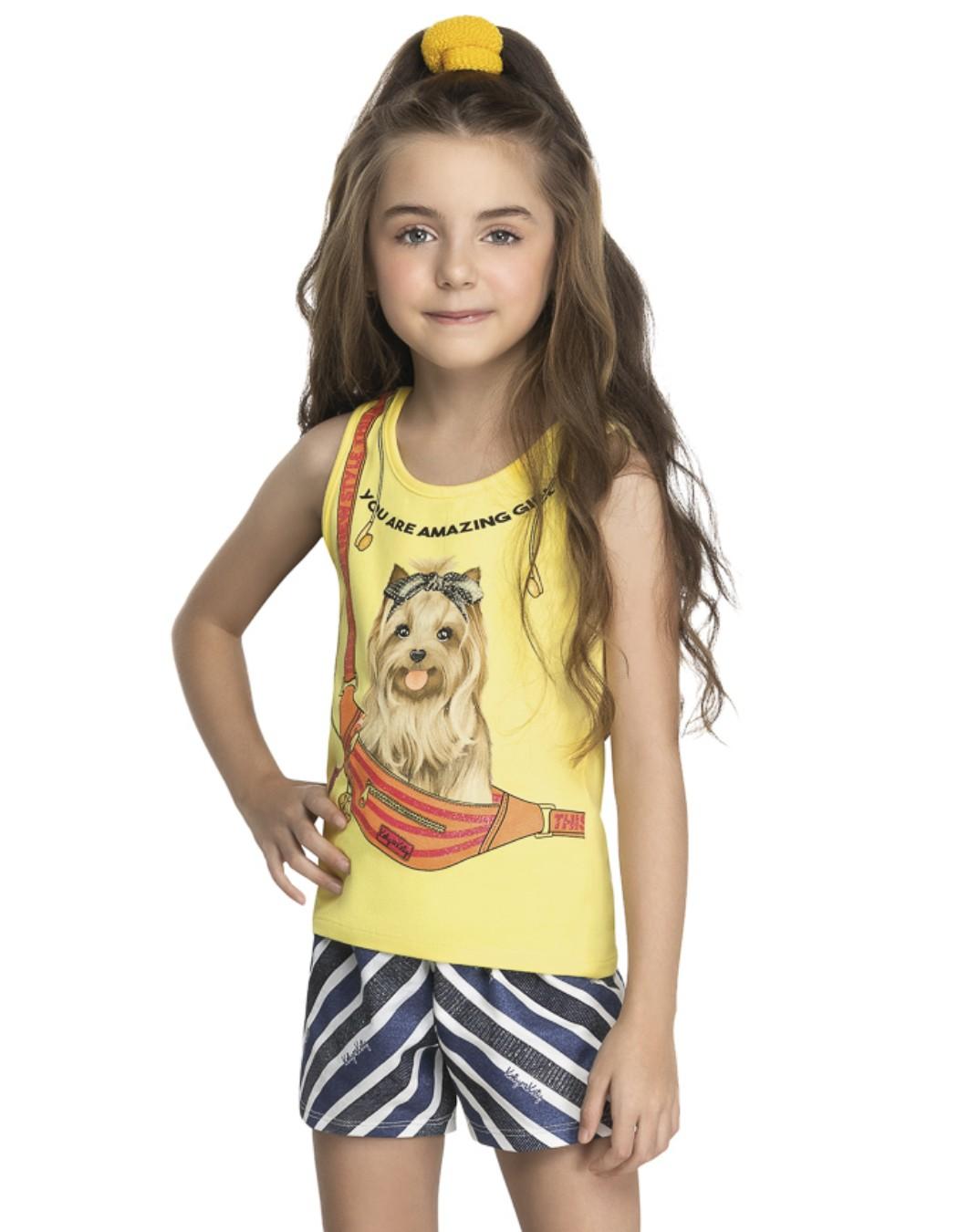 Conjunto Infantil Dog Na Pochete - Kely & Kety
